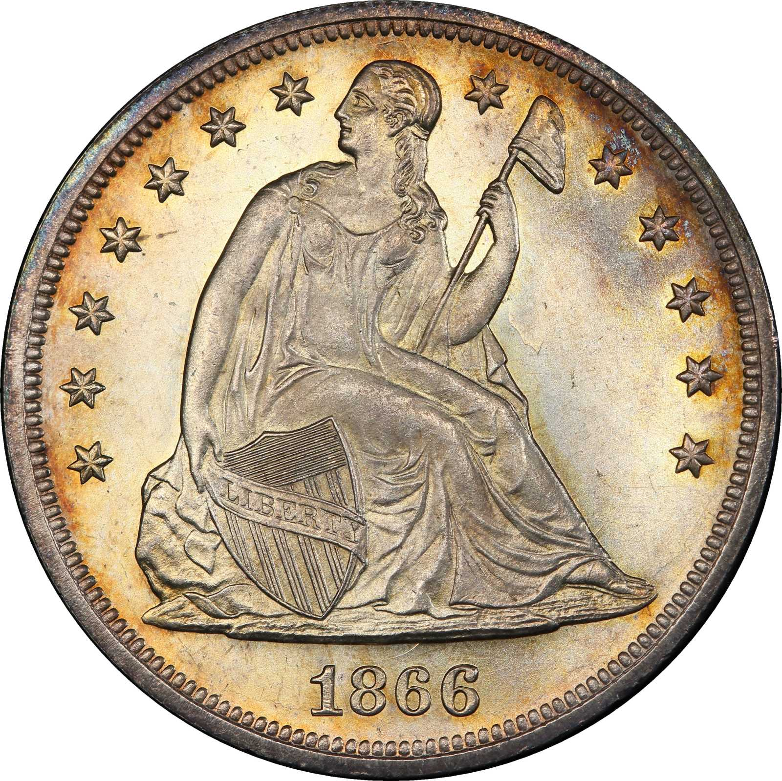 sample image for 1866 $1  MS