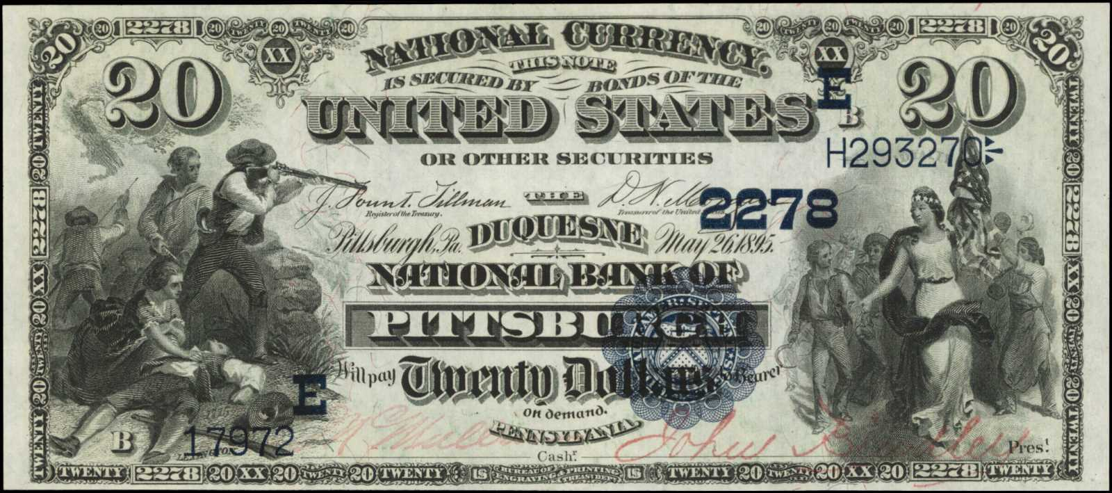 sample image for 1882 2nd Charter Period $20  Date Back 2nd Issue (Fr.# 549557TYPE) [Type]