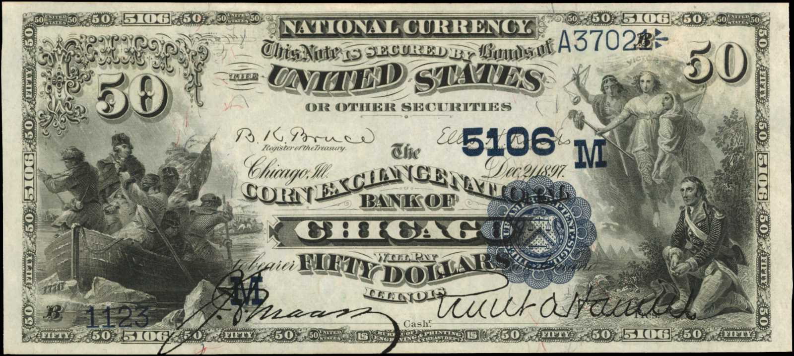 sample image for 1882 2nd Charter Period $50  Date Back 2nd Issue (Fr.# 562)