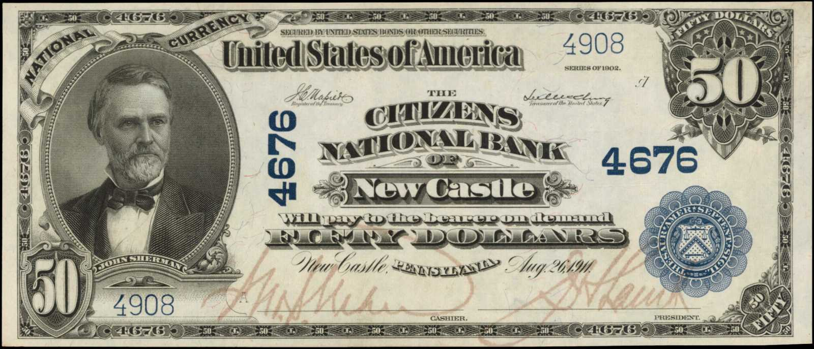 sample image for 1902 3rd Charter Period $50  Plain Back 3rd Issue (Fr.# 675685TYPE) [Type]