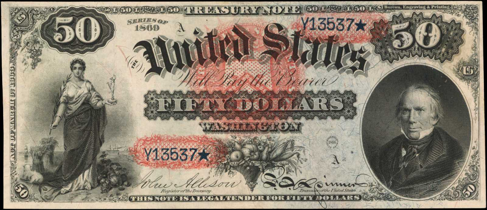 sample image for 1869 $50  (Fr.# 151)