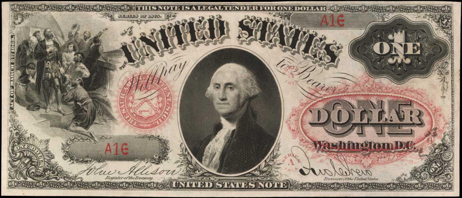 sample image for 1875 $1  (Fr.# 21)
