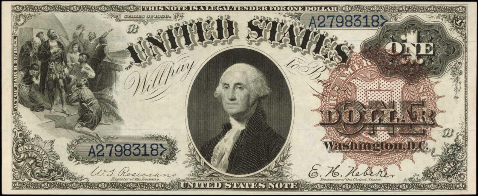 sample image for 1880 $1  (Fr.# 33)