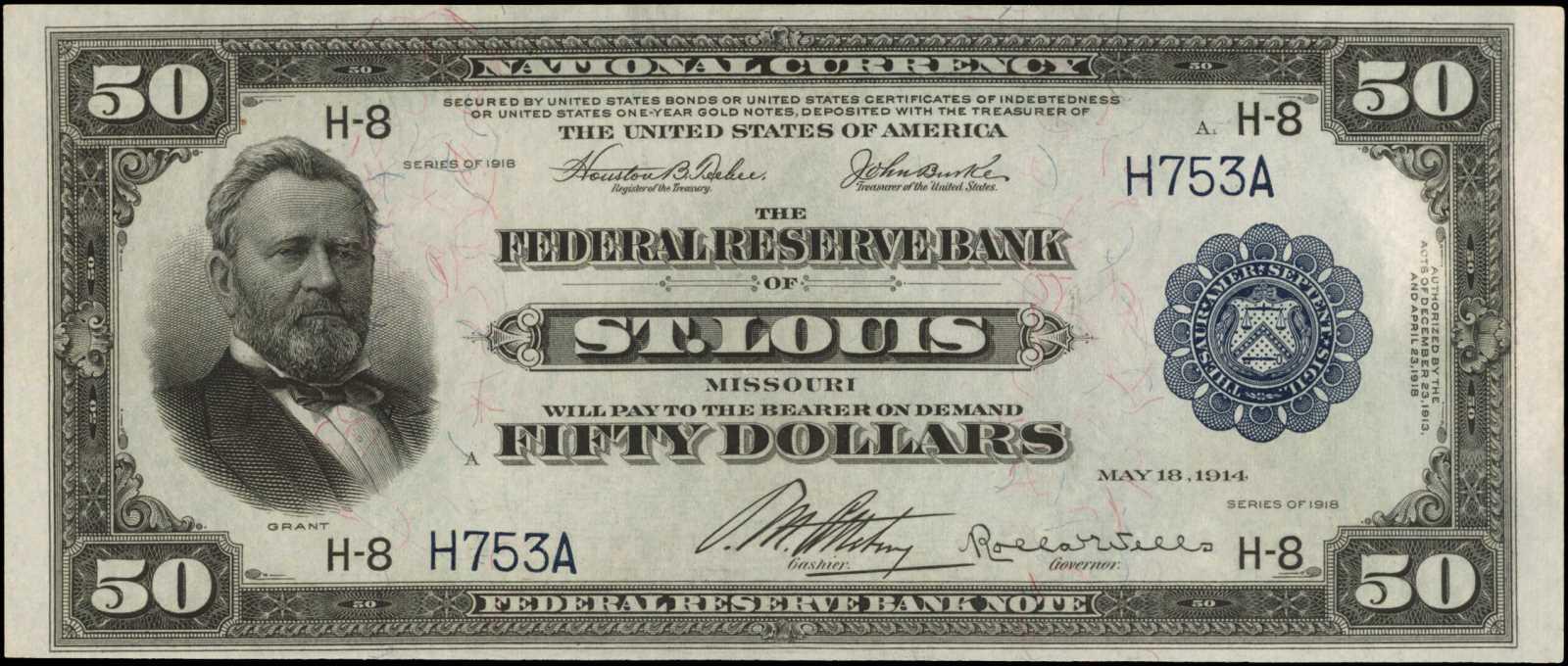 sample image for 1918 $50  St. Louis (Fr.# 831)