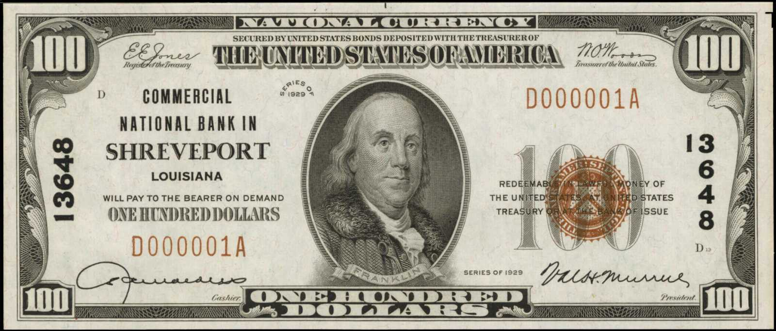 sample image for 1929 Type 1 $100  (Fr.# 1804-1)
