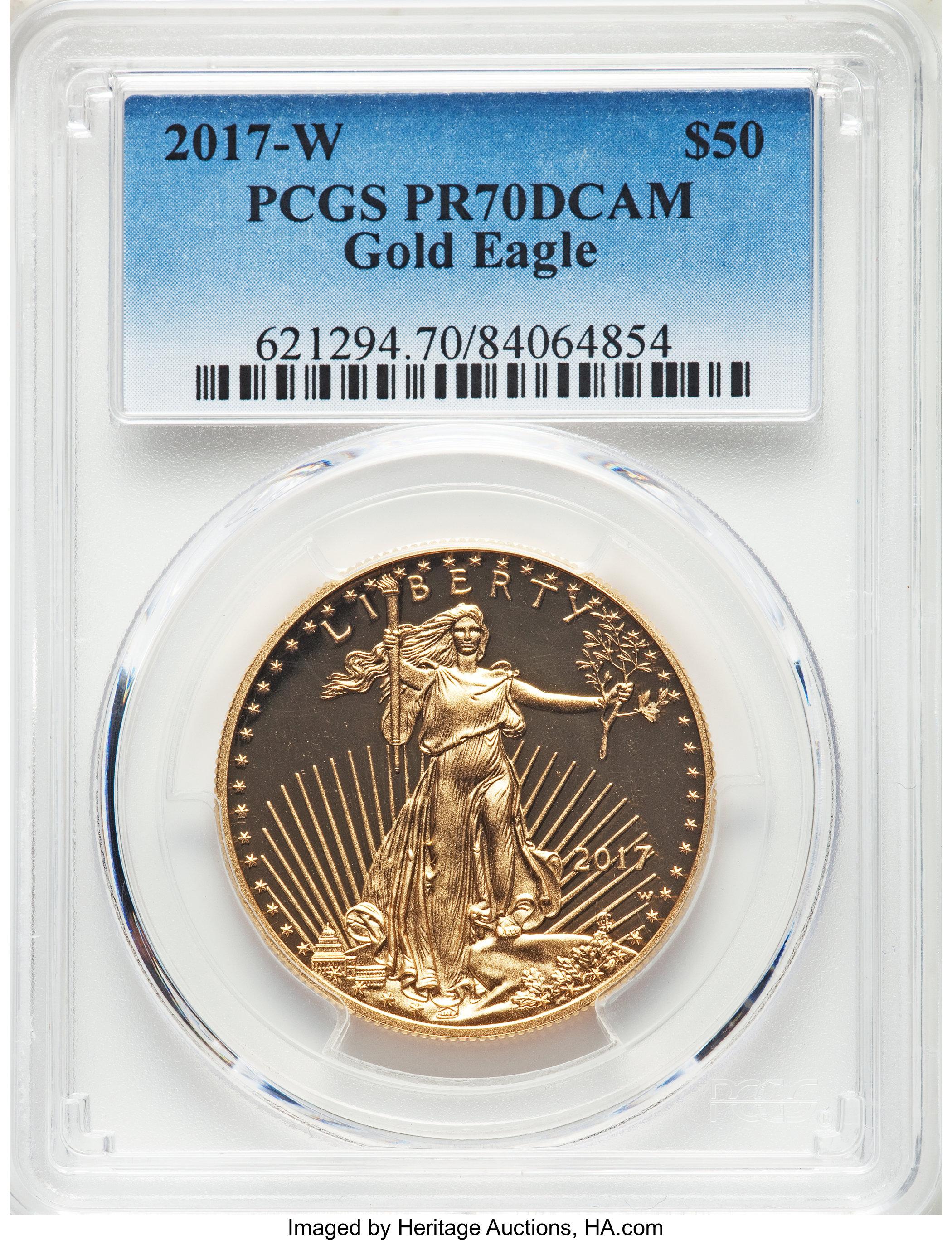 sample image for 2017-W Gold Eagle $50  PR DCAM