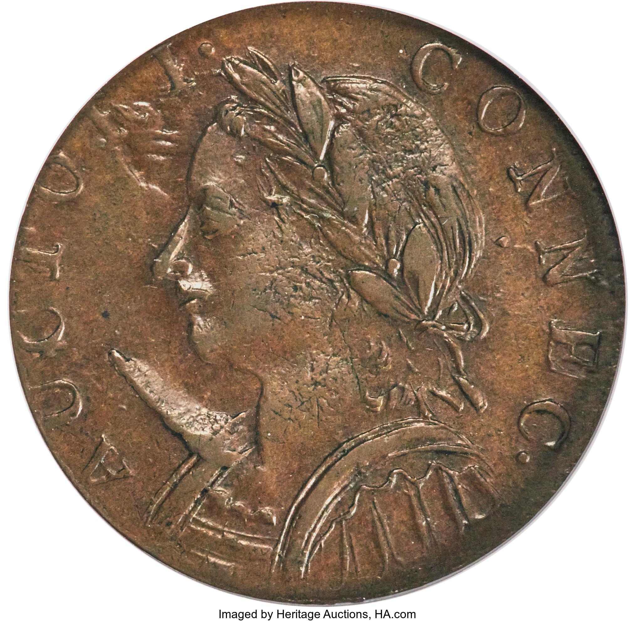 sample image for 1787 Conn Mailed Bust L, Horned BN