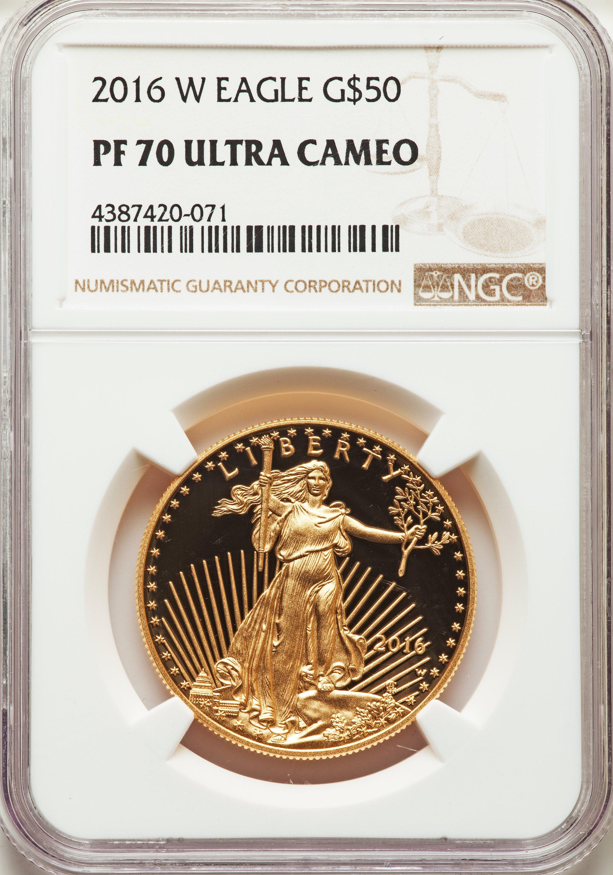 sample image for 2016-W Gold Eagle $50  PR DCAM
