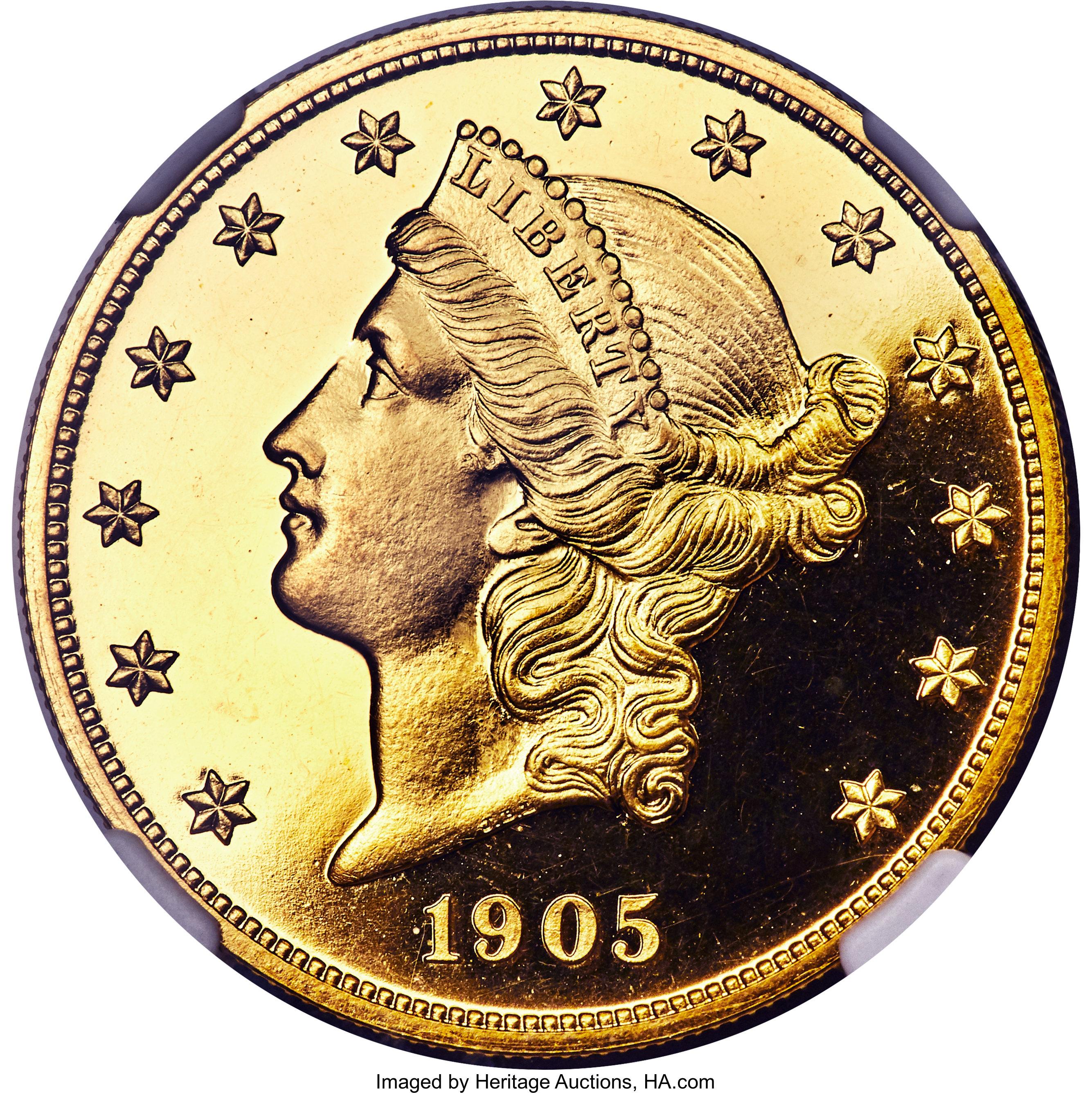 sample image for 1905 $20  PR DCAM