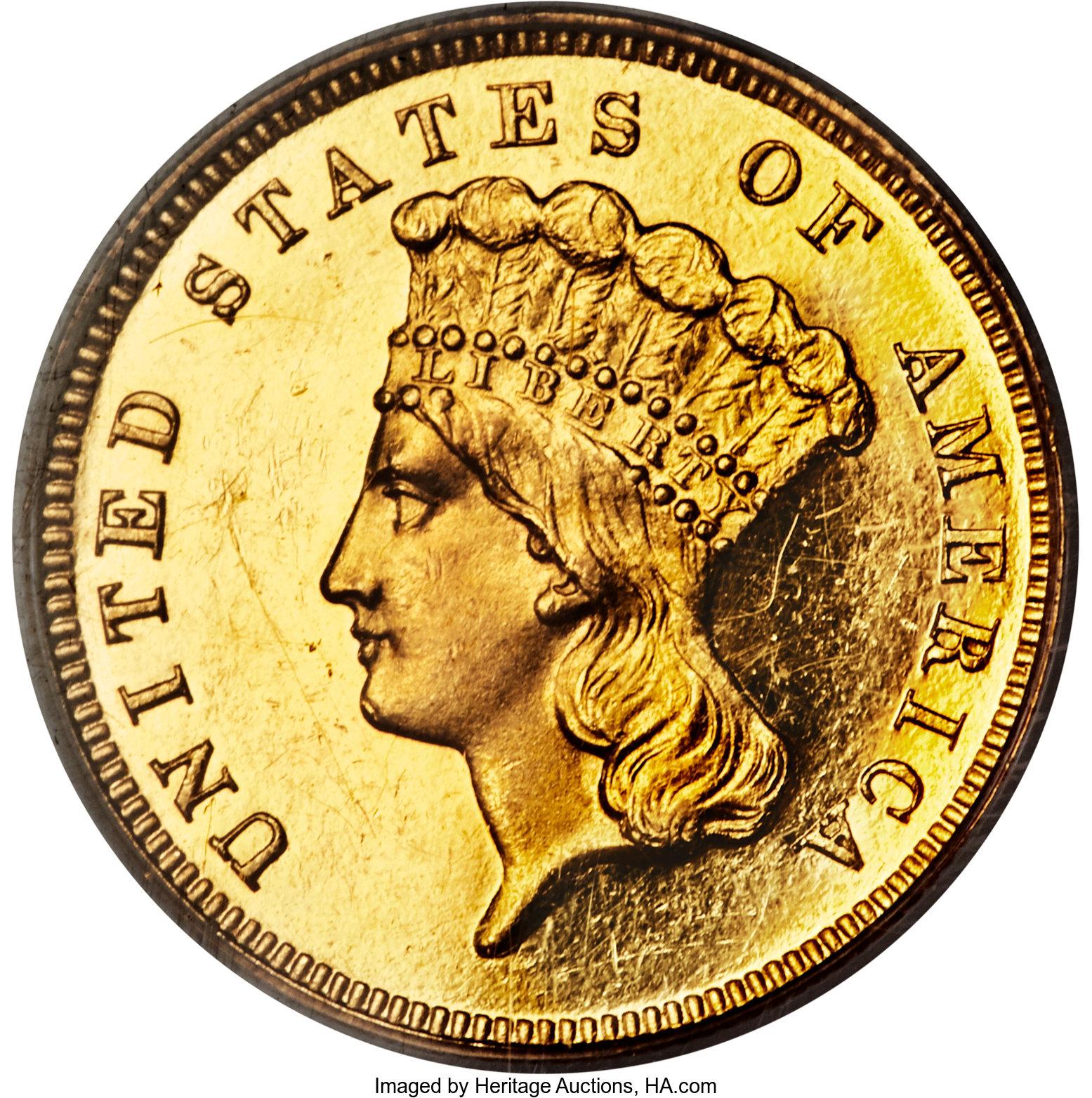 sample image for 1886 $3  PR CAM