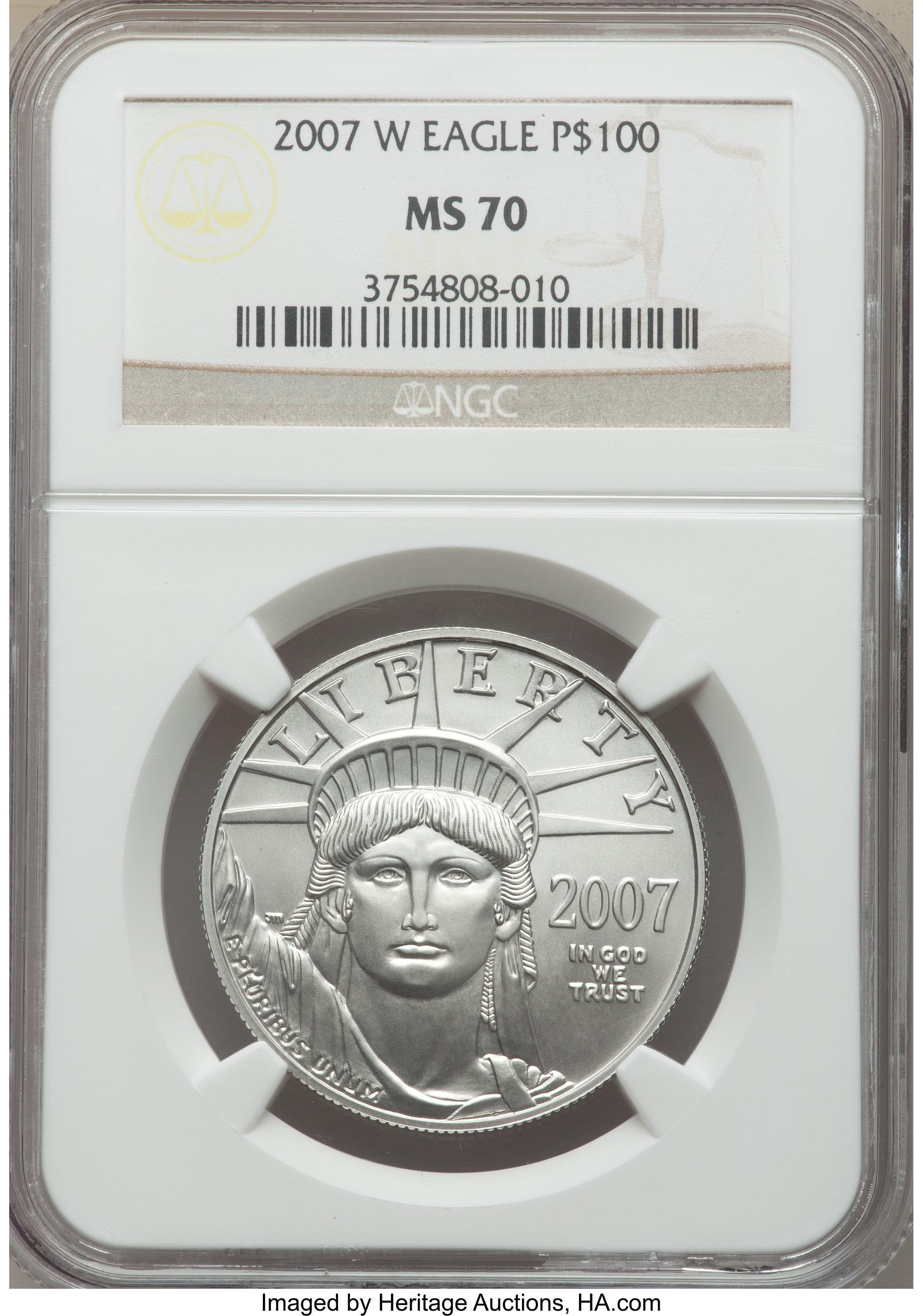 sample image for 2007-W Platinum Eagle $100  MS Burnished