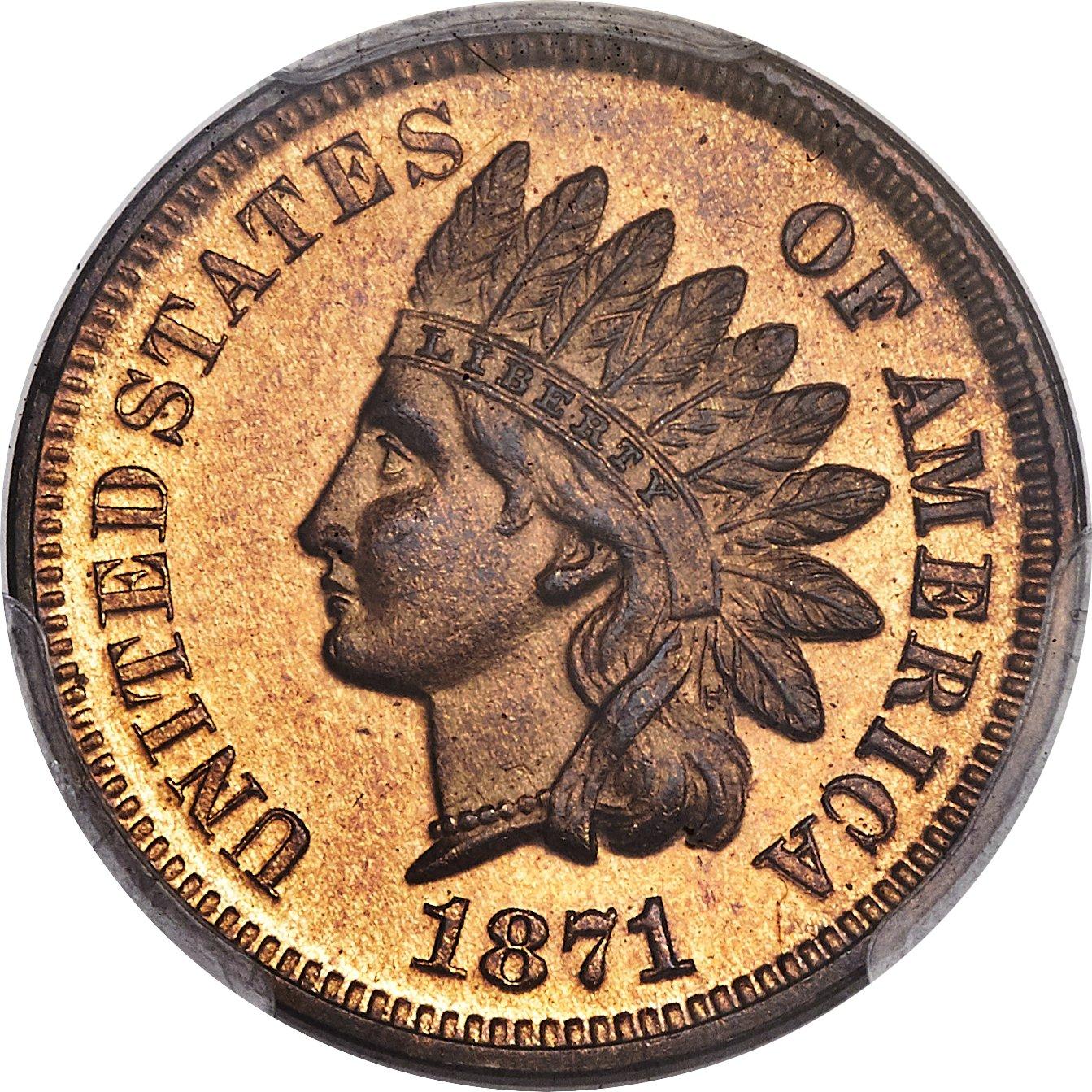 sample image for 1871 1c PR RB