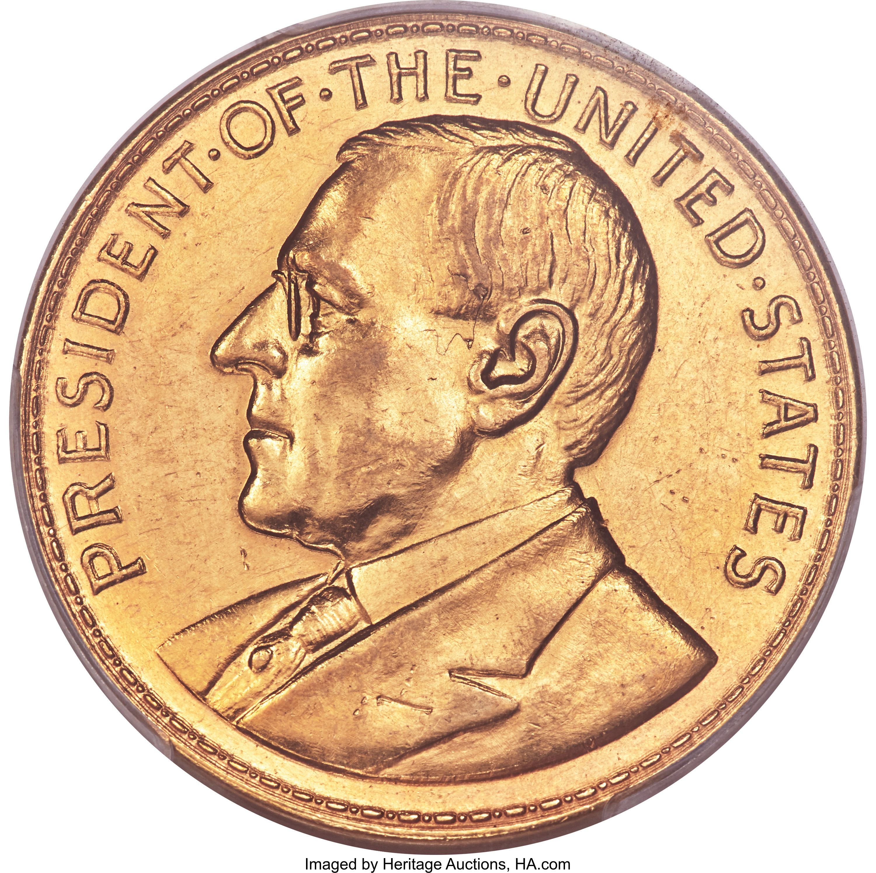 sample image for 1920 Wilson Dollar, Opening of Manila Mint, Gold SC$1 MS (HK-1031)