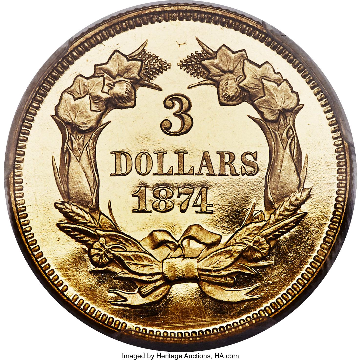 sample image for 1874 $3  PR DCAM