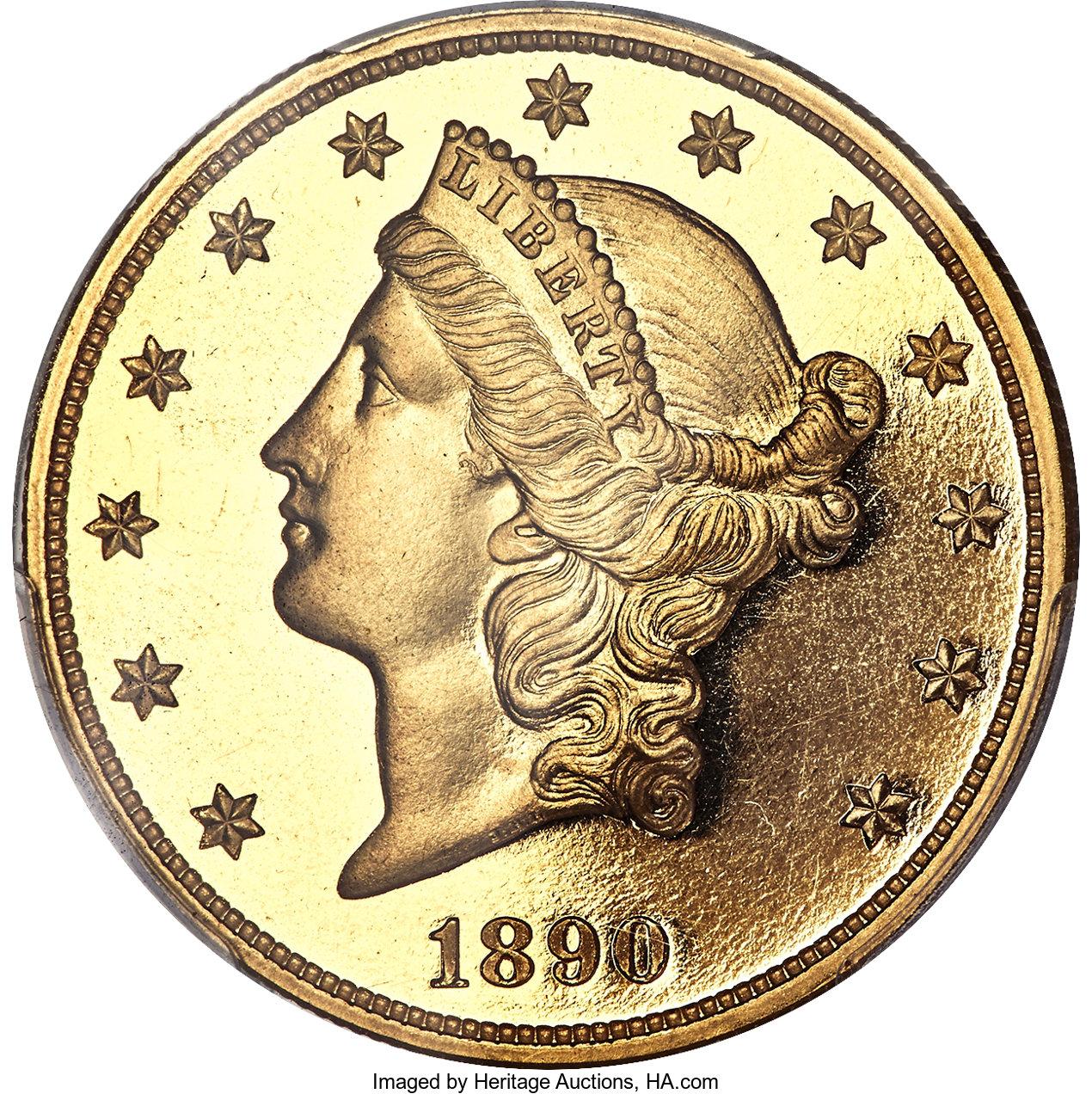 sample image for 1890 $20  PR DCAM