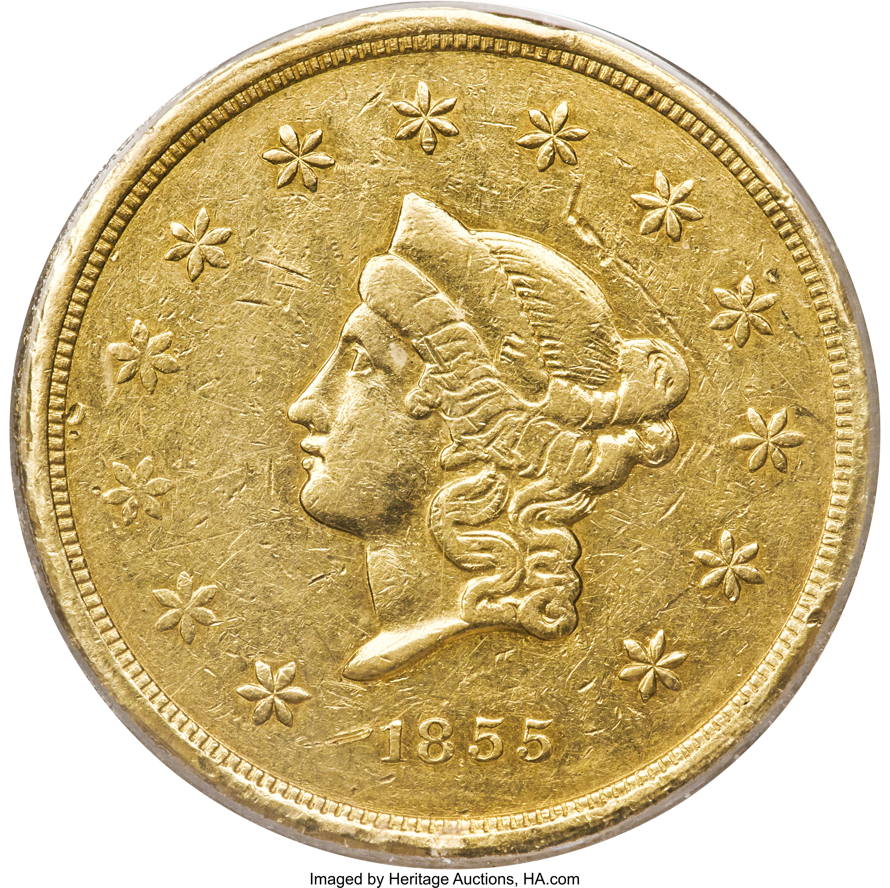 sample image for 1855 $50 Wass Mol Co , Large Head (K-9)