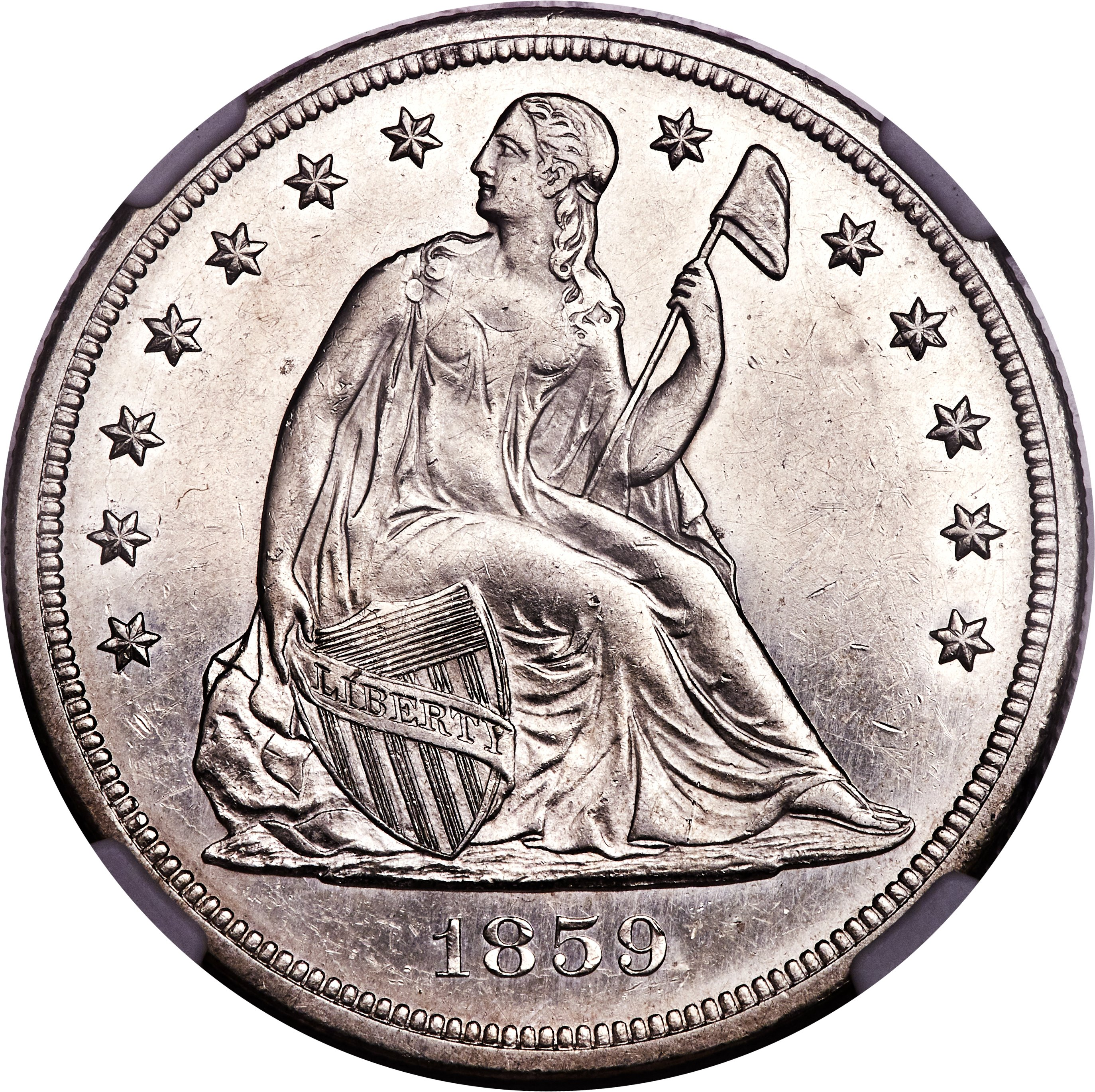sample image for 1859-S $1  MS