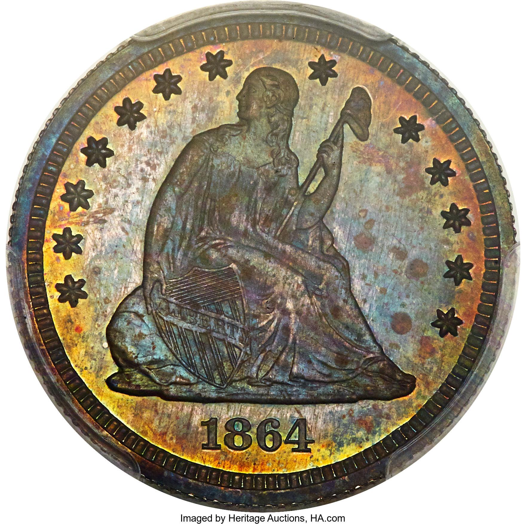 sample image for 1864 J-386 P25c PR