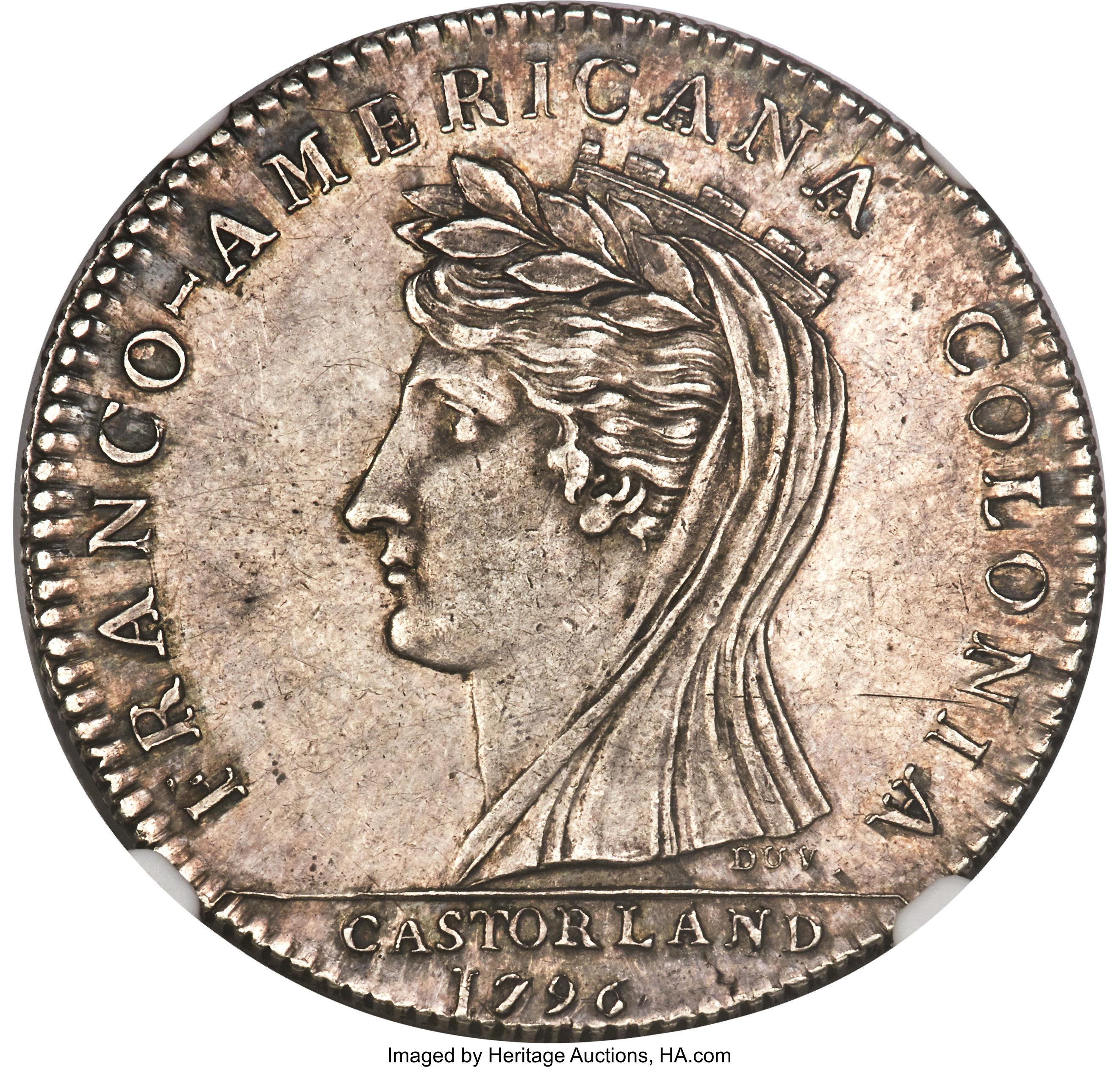 sample image for 1796 Castorland, Silver