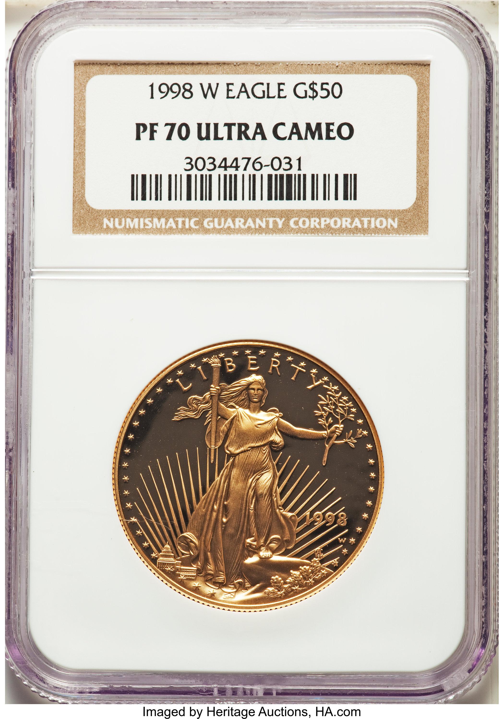 sample image for 1998-W Gold Eagle $50  PR DCAM