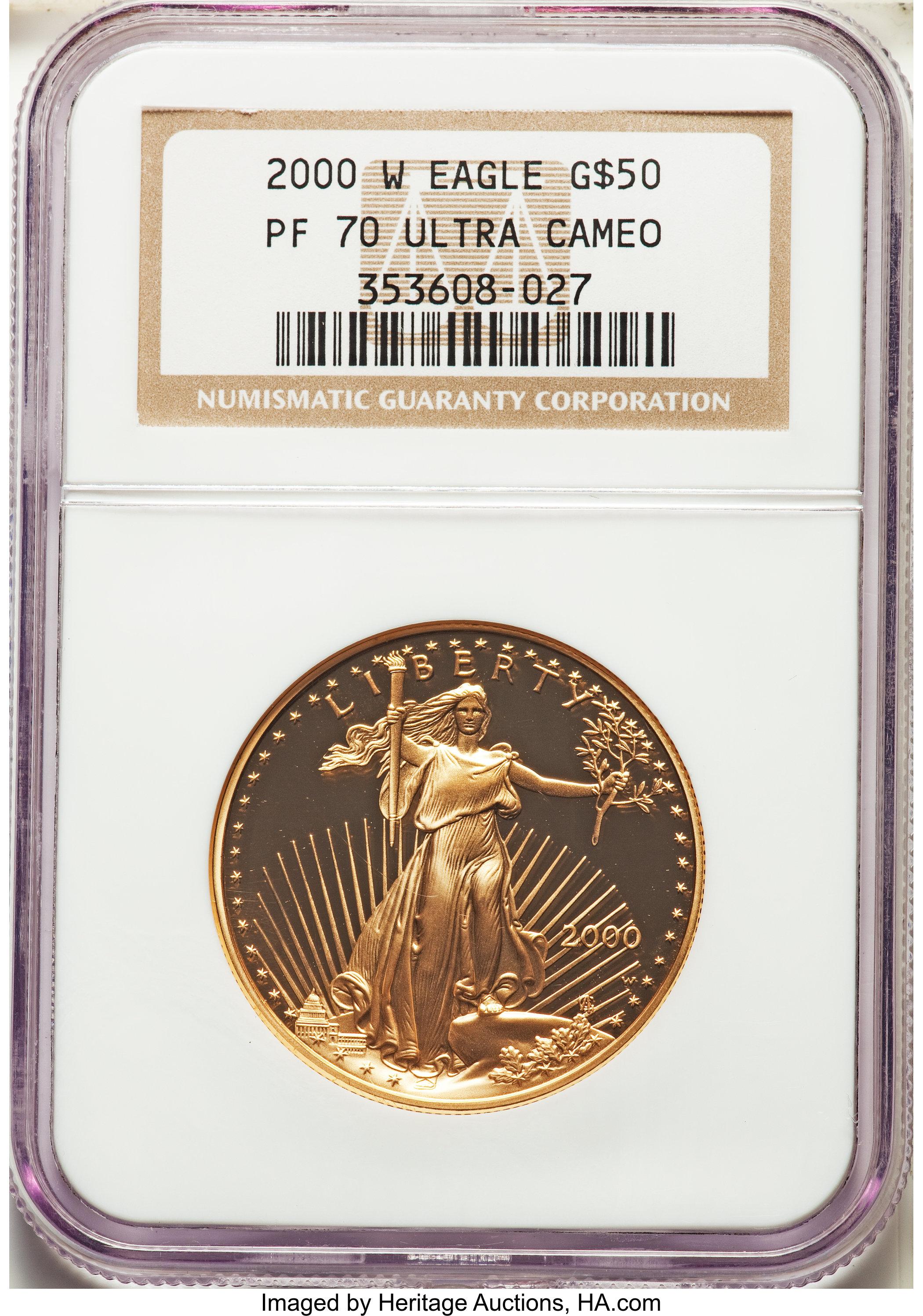sample image for 2000-W Gold Eagle $50  PR DCAM