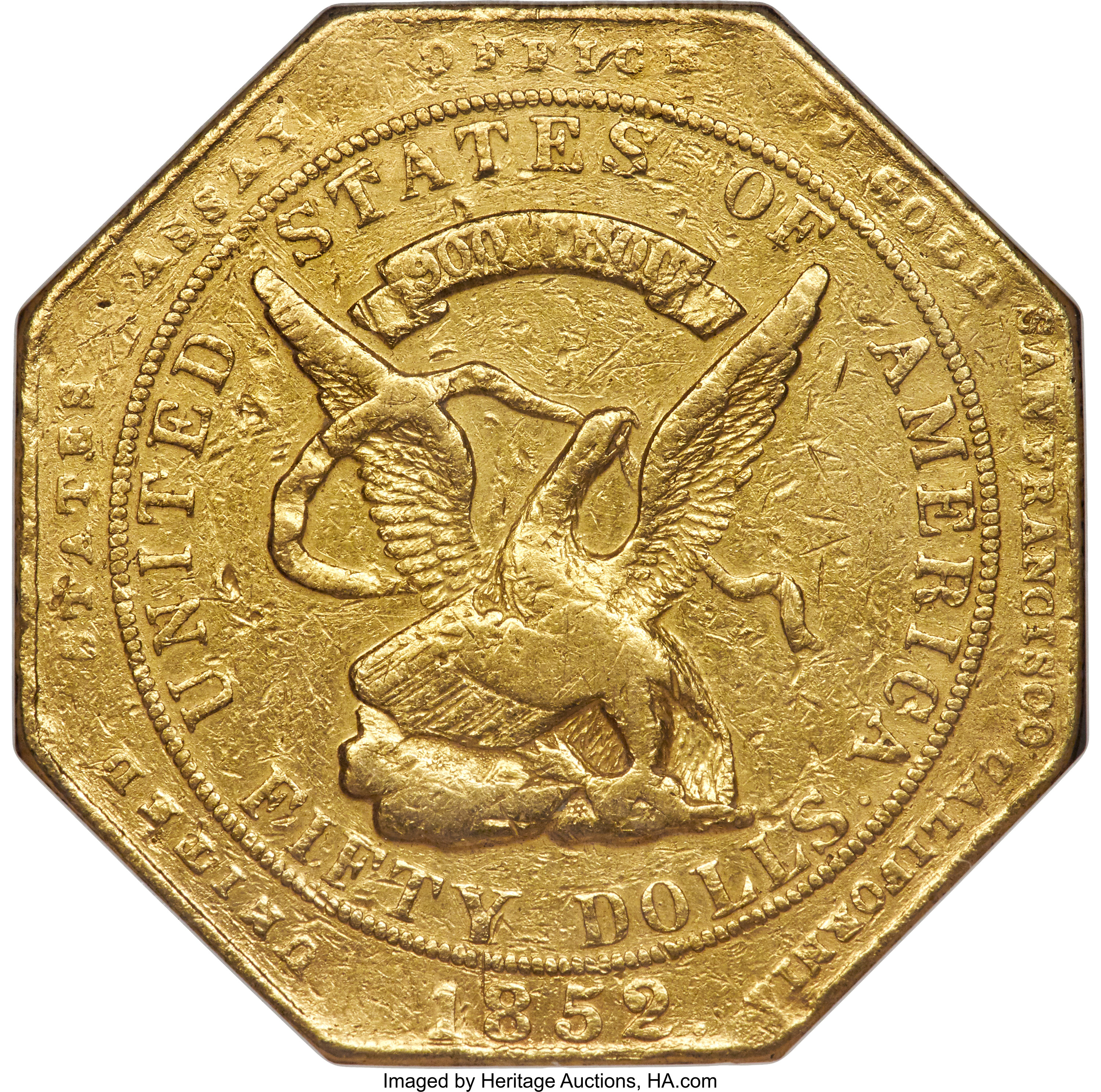 sample image for 1852 $50 Assay, 900 THOUS