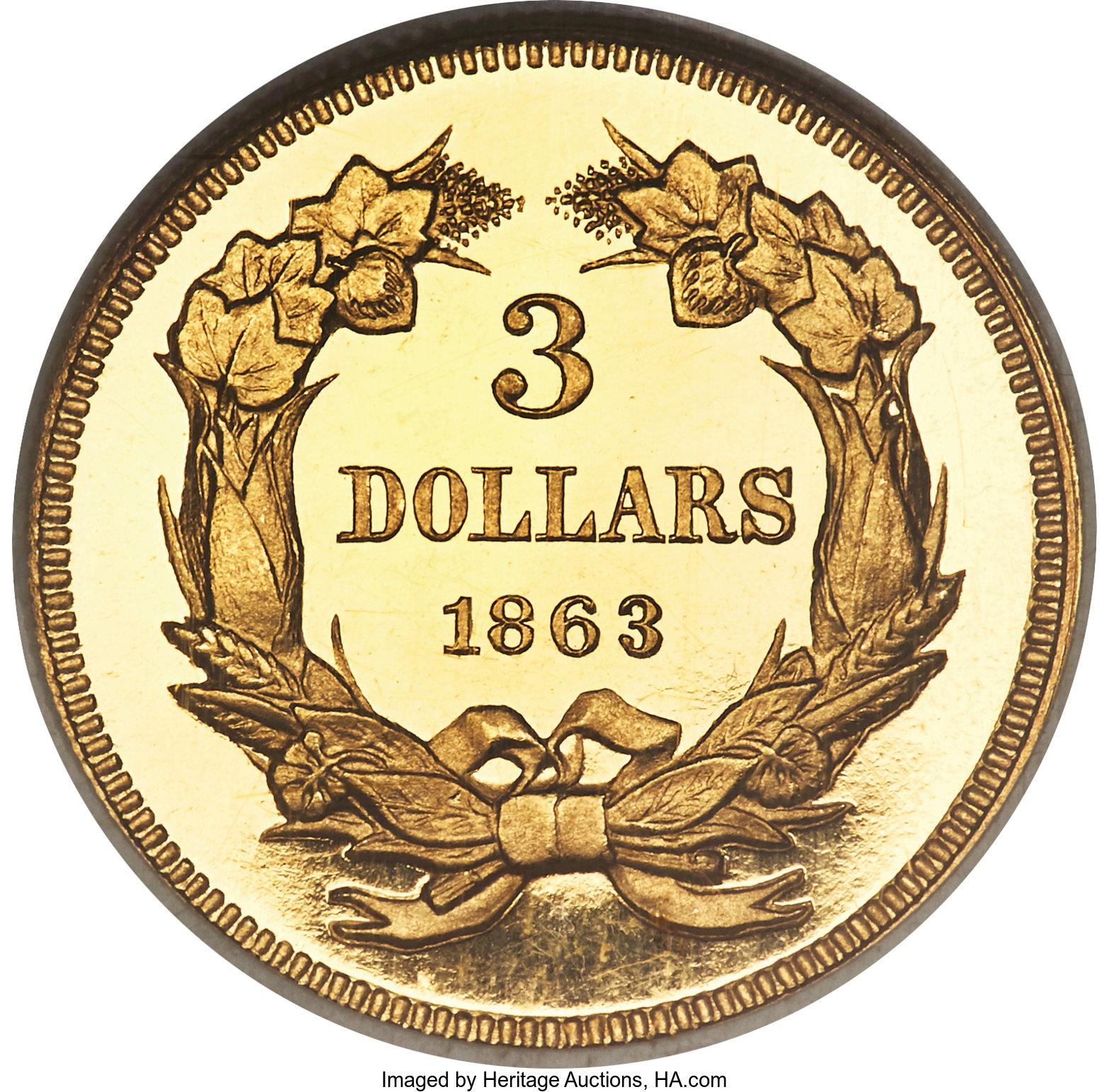 sample image for 1863 $3  PR DCAM