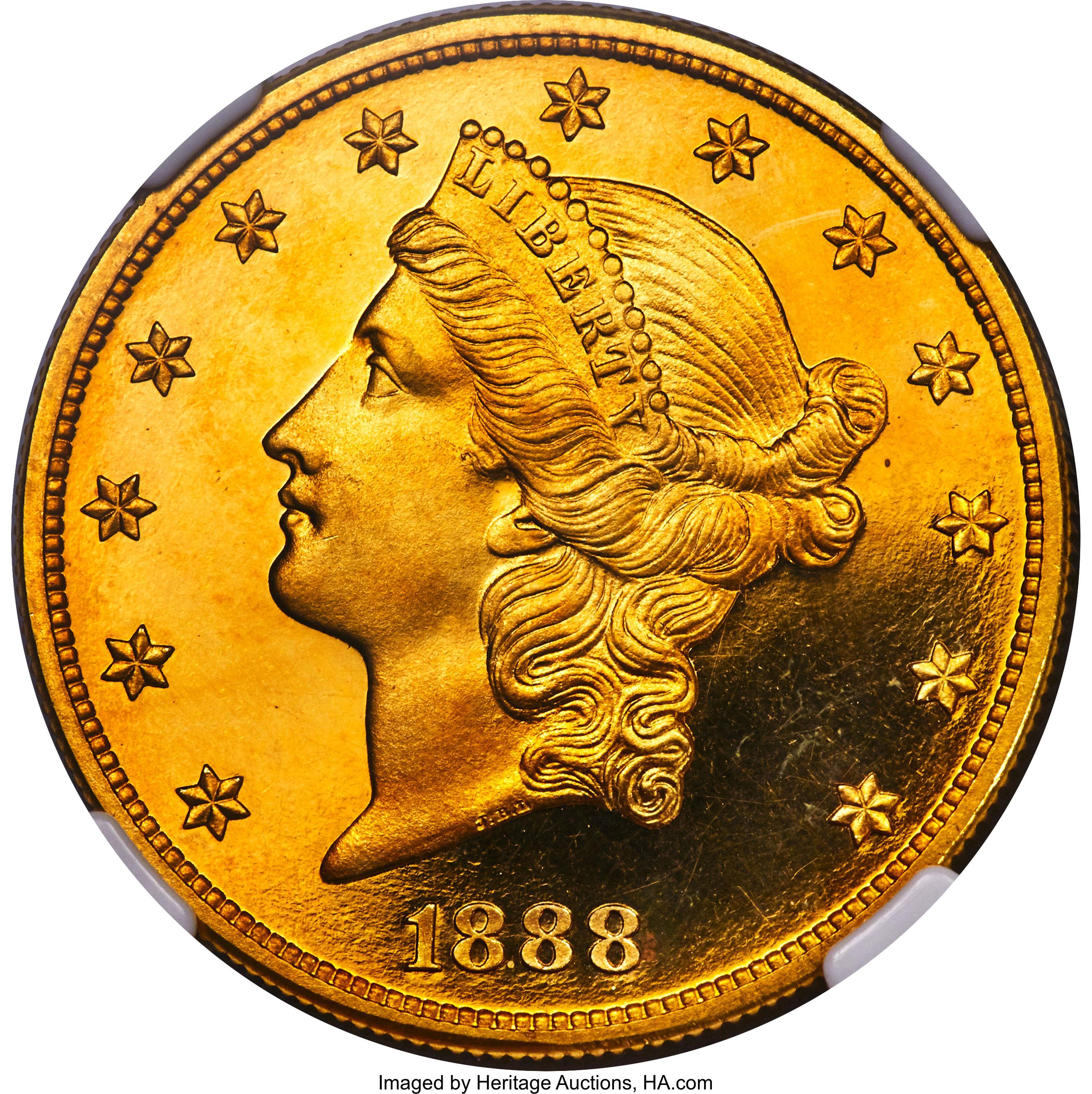 sample image for 1888 $20  PR DCAM