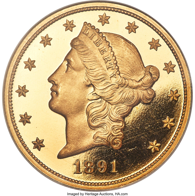 sample image for 1891 $20  PR DCAM