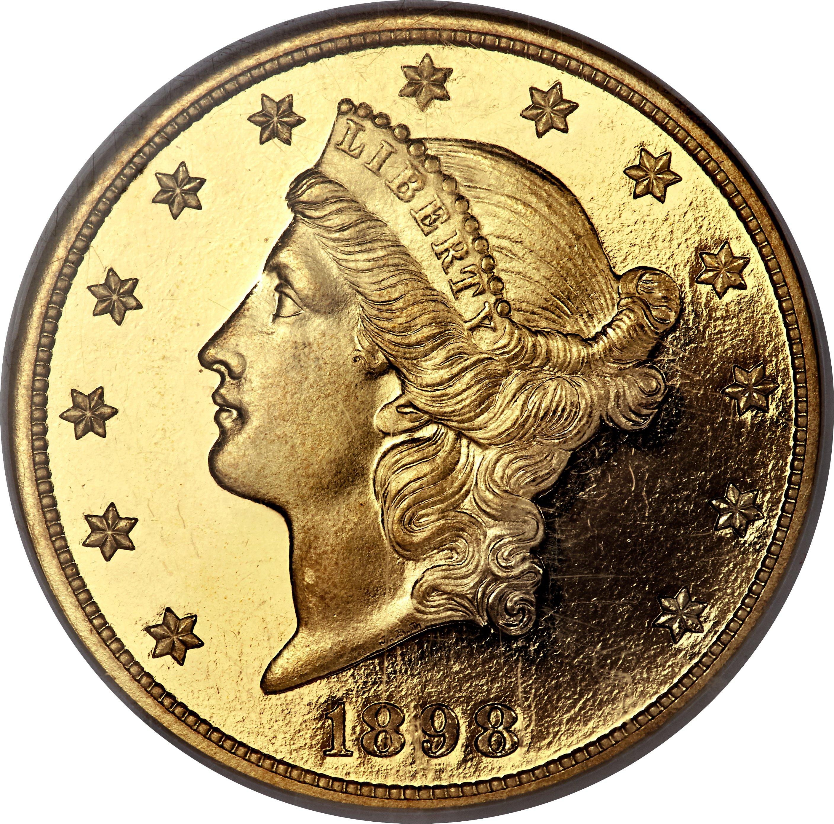sample image for 1898 $20  PR DCAM