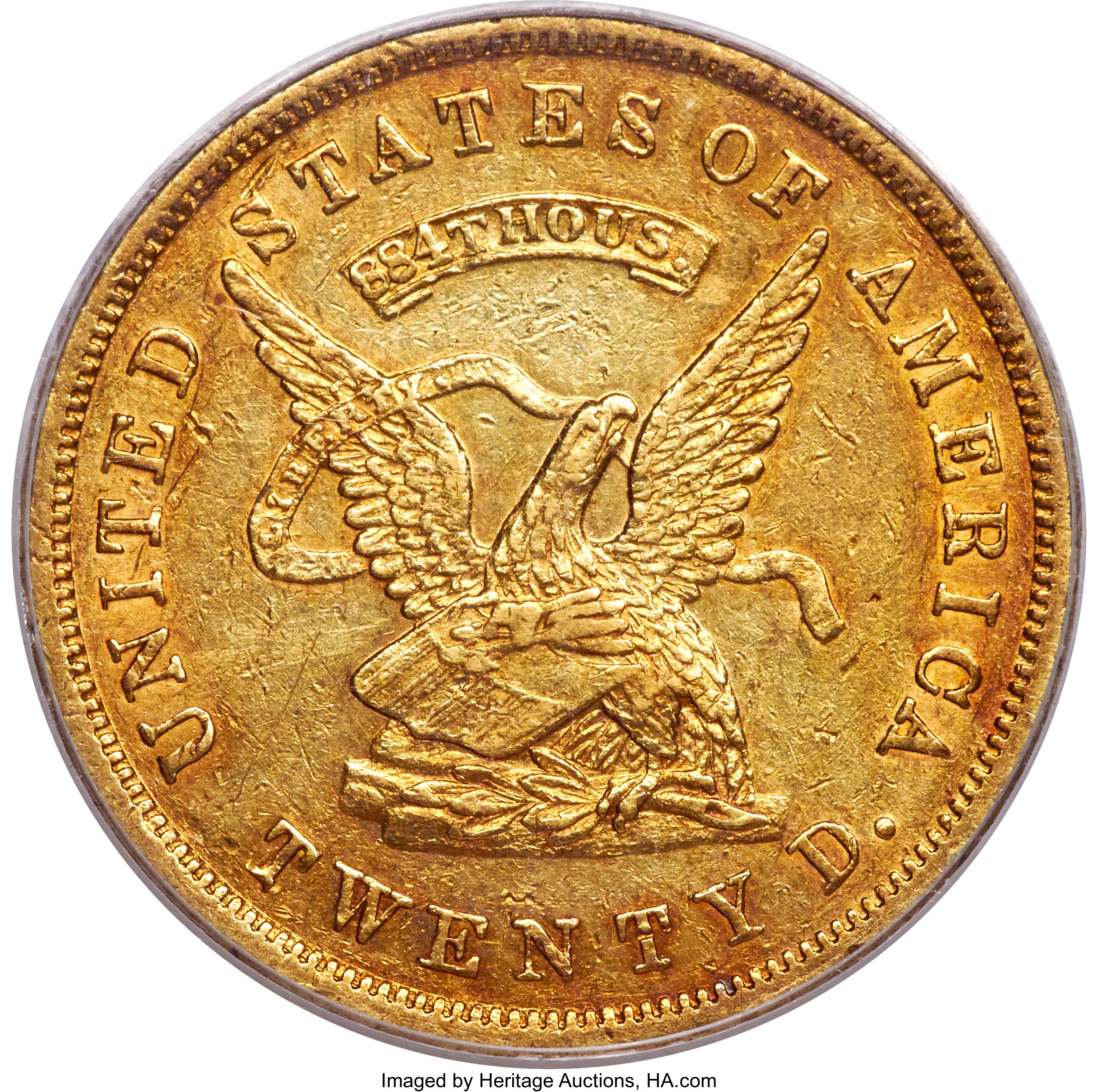 sample image for 1853 $20 Assay 884 THOUS