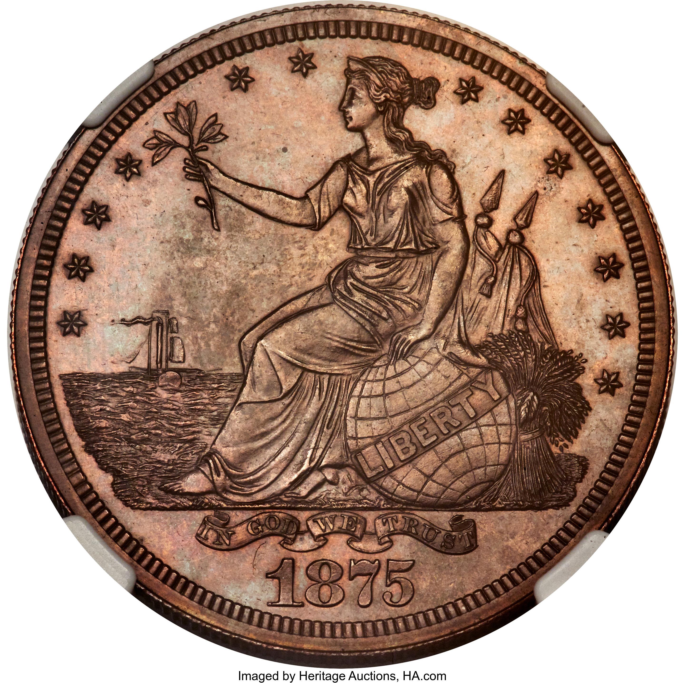 sample image for 1875 PT$1 (J-1424) PR BN
