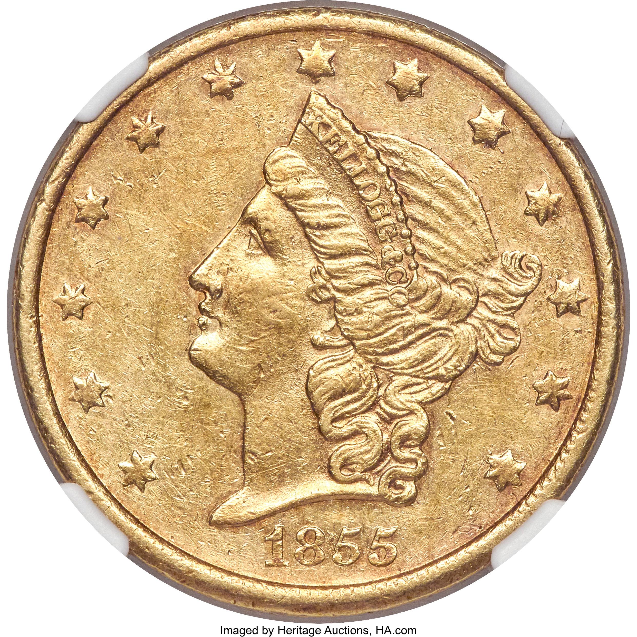 sample image for 1855 $20 Kellog & Co.