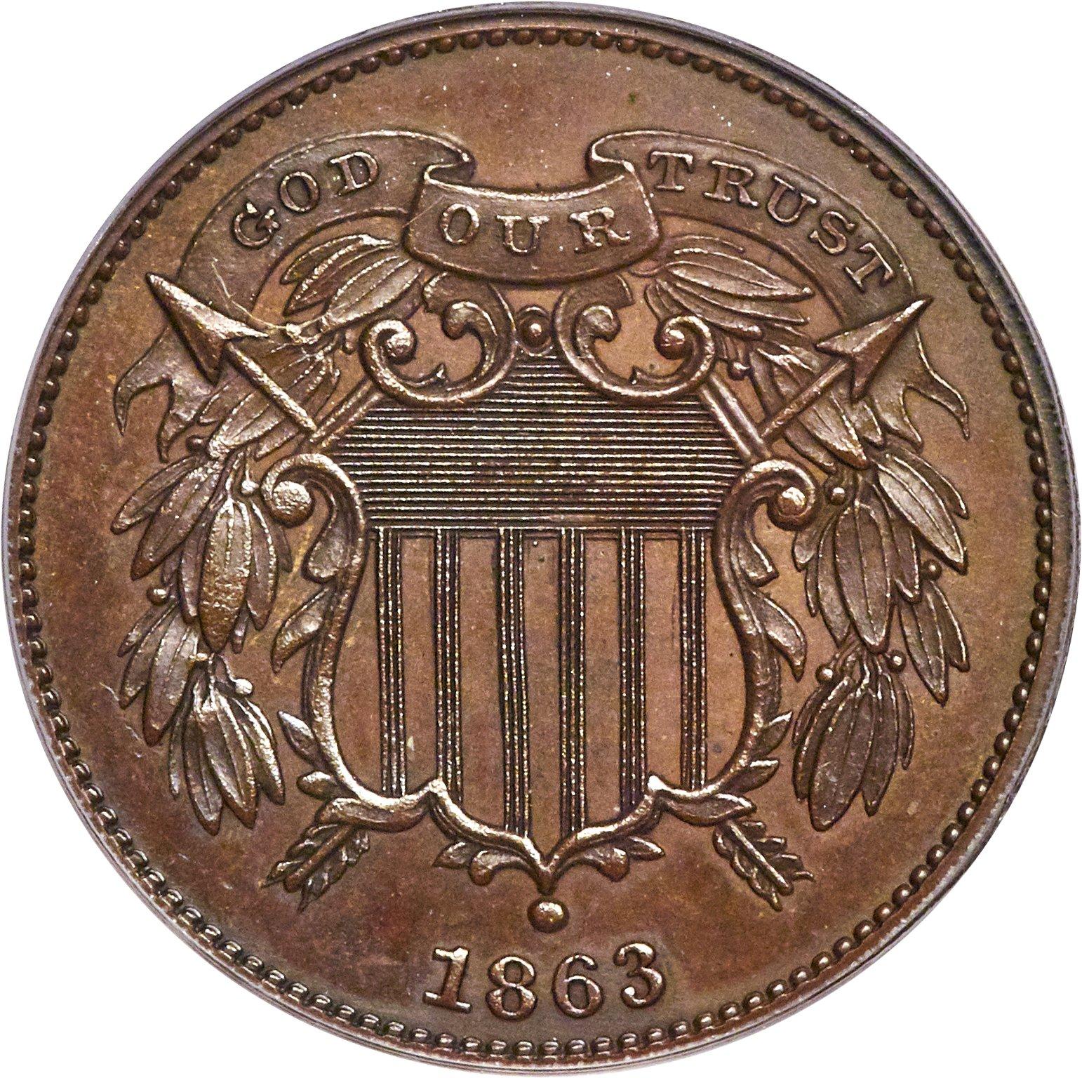 sample image for 1863 J-312 P2c PR BN