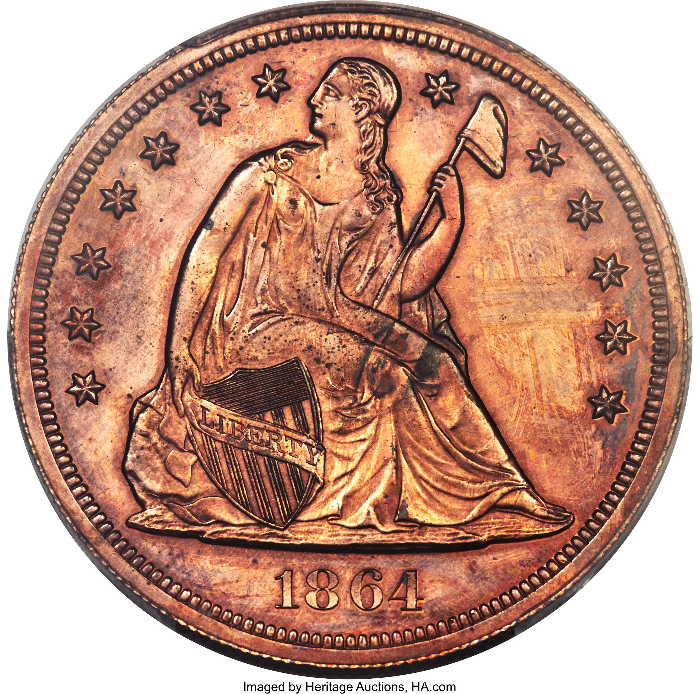sample image for 1864 J-397 P$1 PR RB