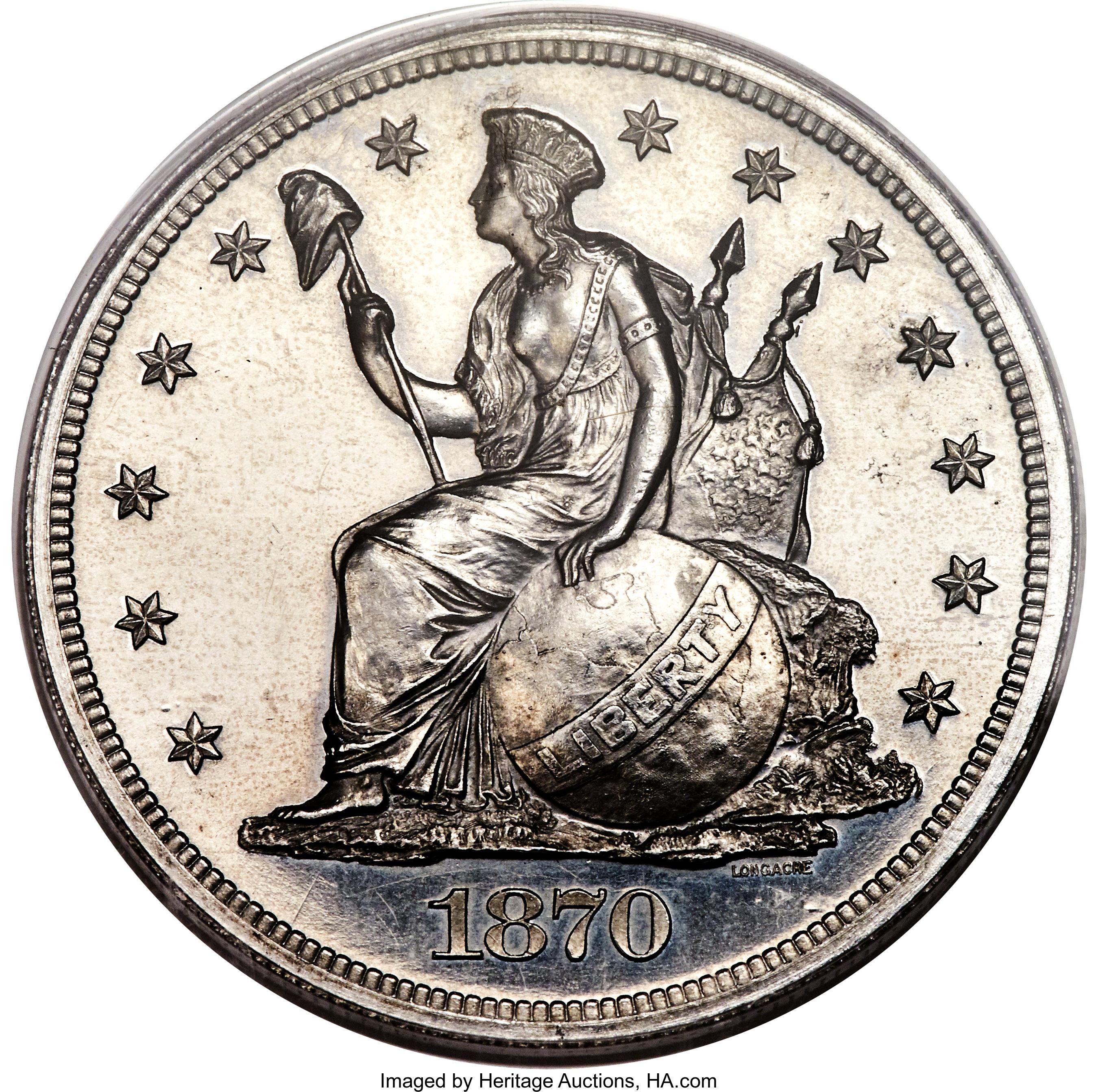 sample image for 1870 P$1 (J-1012) PR