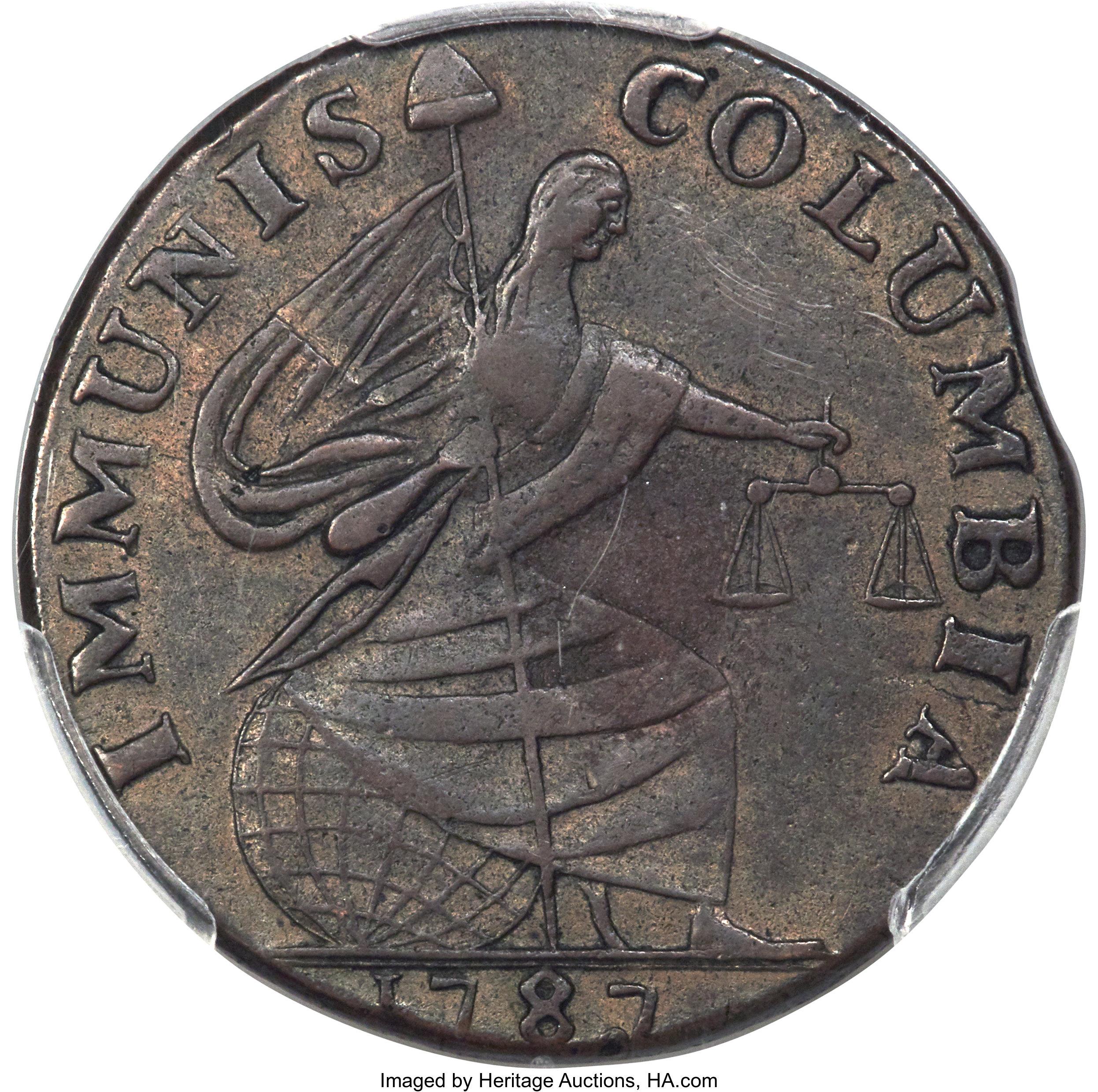 sample image for 1787 Immunis Columbia, Lg Eagle BN