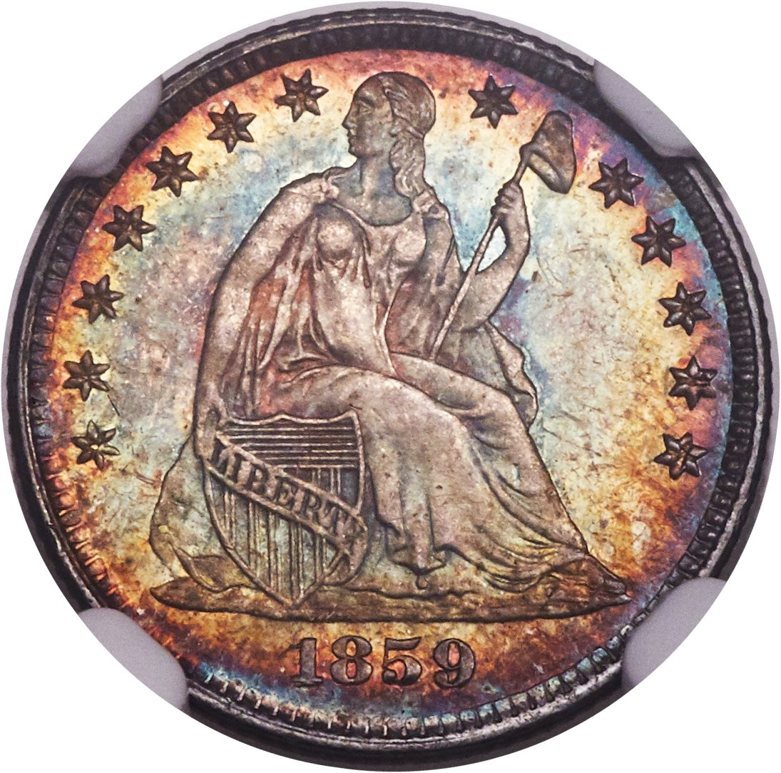 sample image for 1840-1859 H10C PR Stars Obverse [Type]