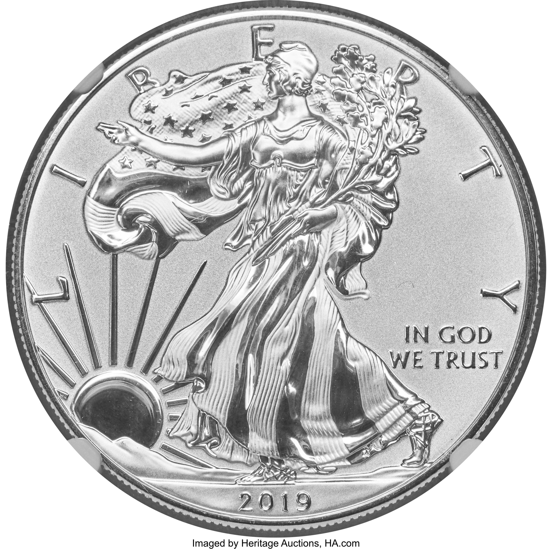 sample image for 2019-S Silver Eagle $1  PR Enhanced Reverse Proof