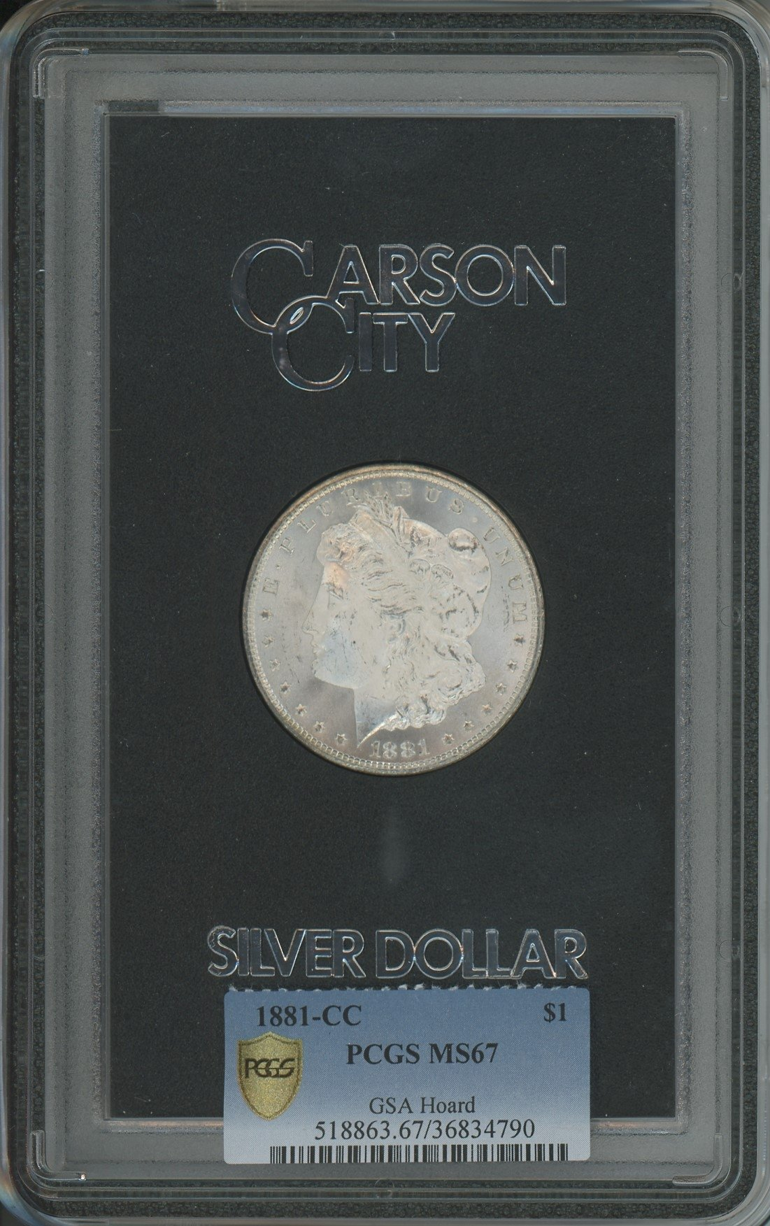 sample image for 1881-CC $1  MS GSA Hoard