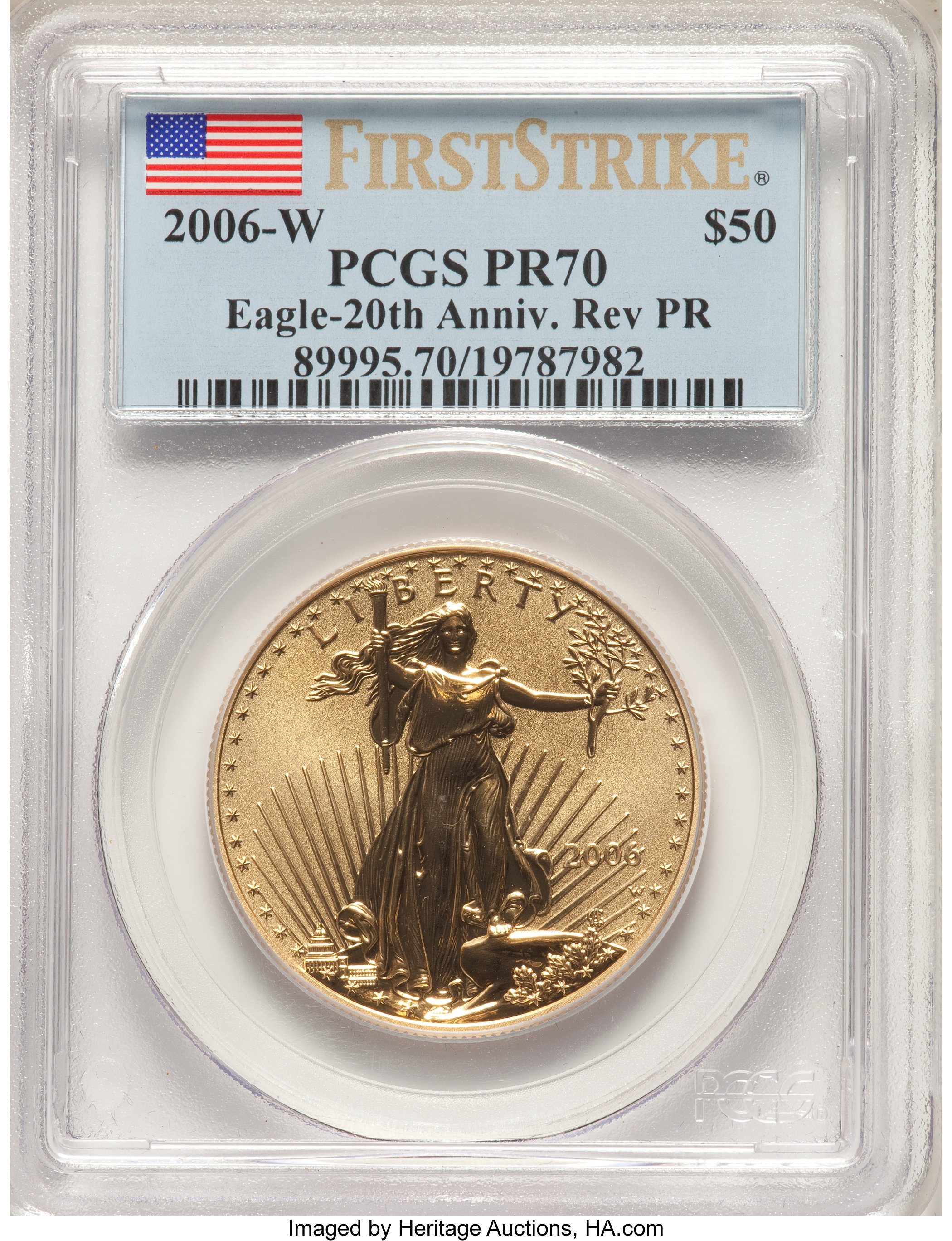 sample image for 2007 Gold Eagle $50  MS
