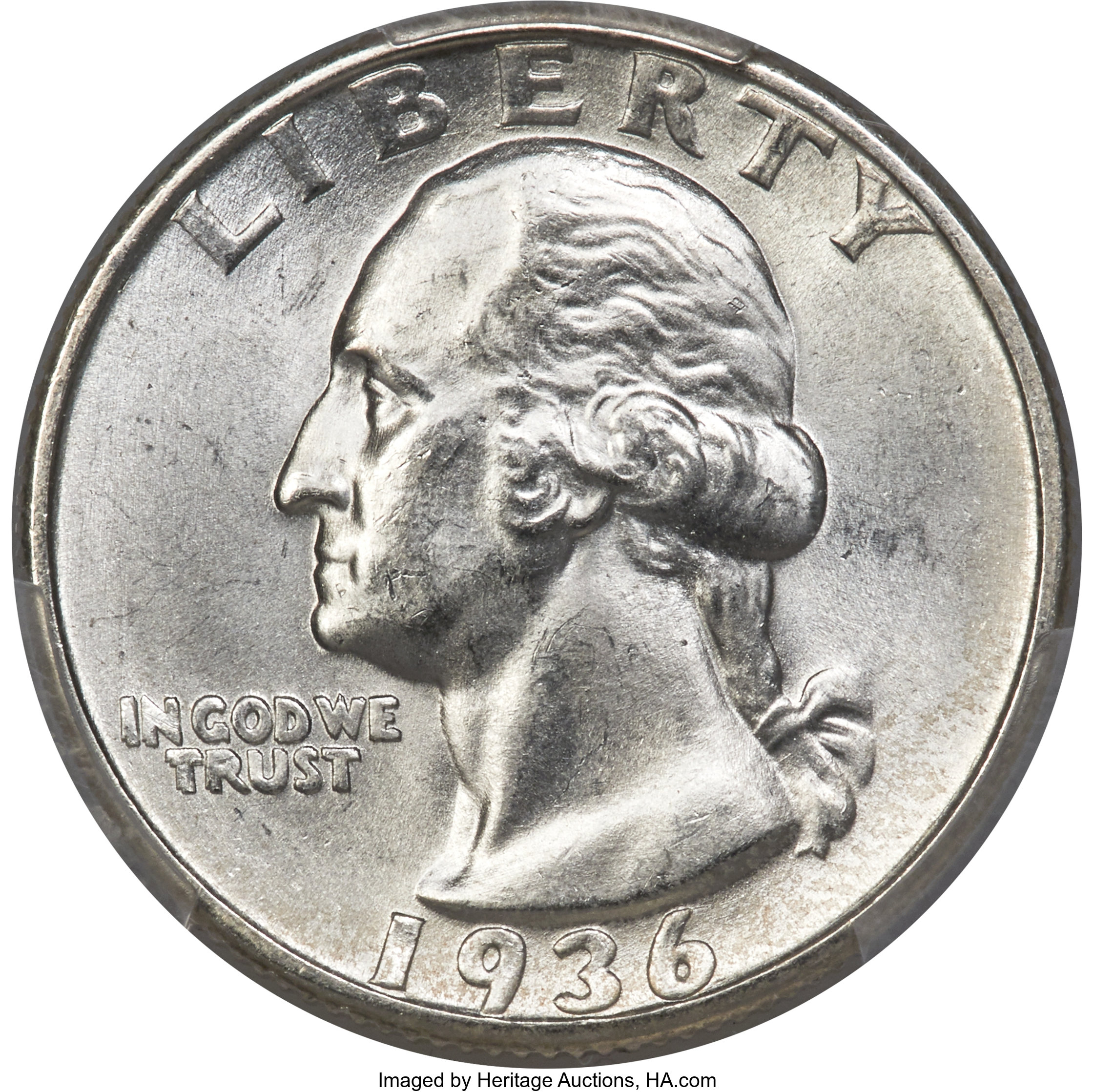 sample image for 1936 25c MS FS-101 Doubled Die Obverse
