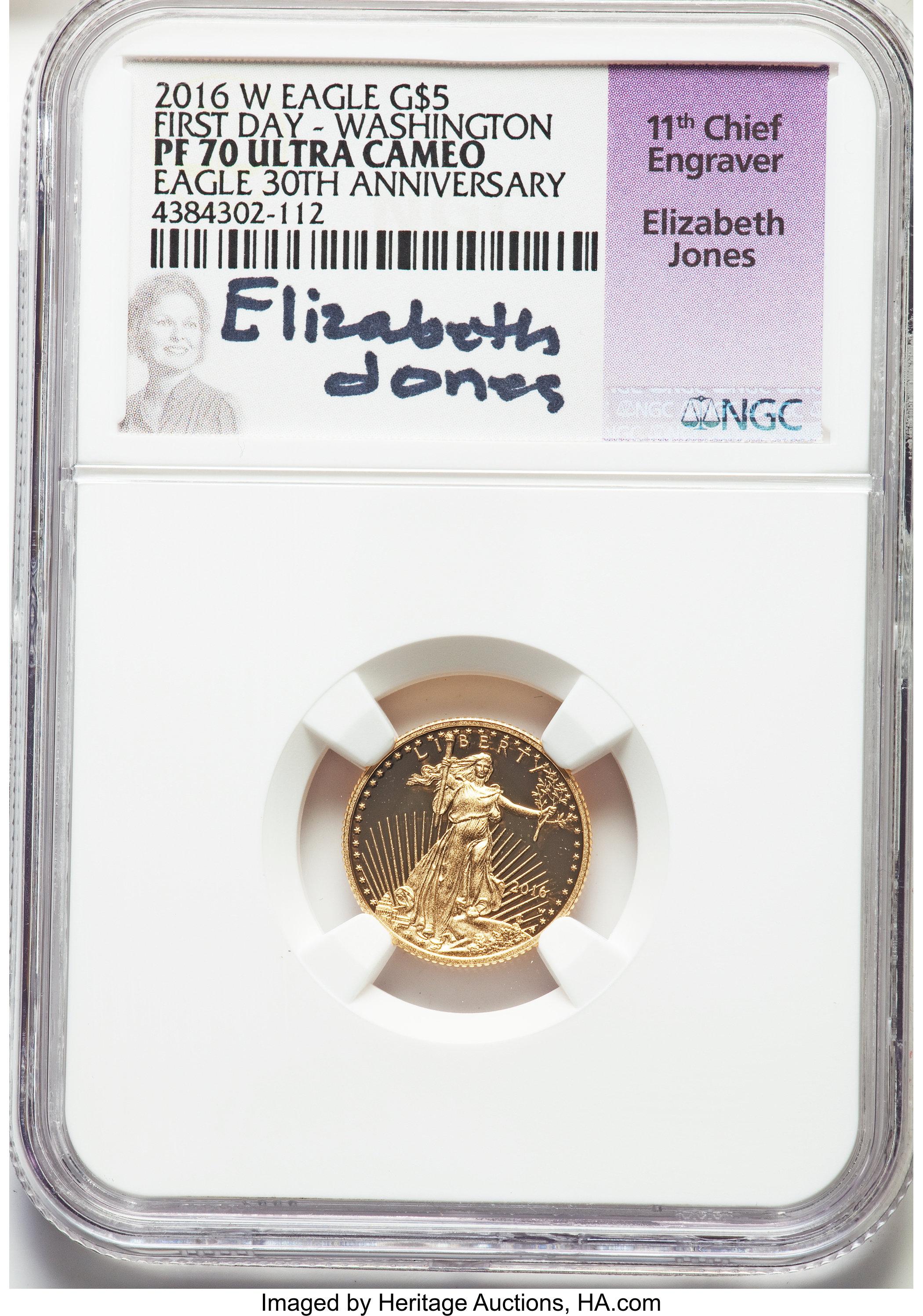 sample image for 2016-W Gold Eagle $5  PR DCAM