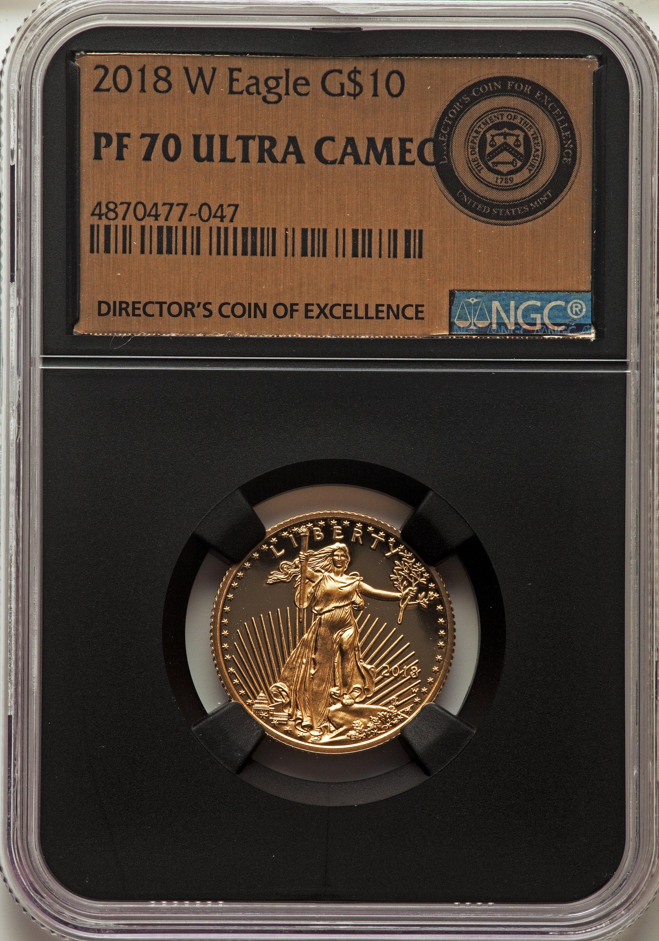 sample image for 2018-W Gold Eagle $5  PR DCAM