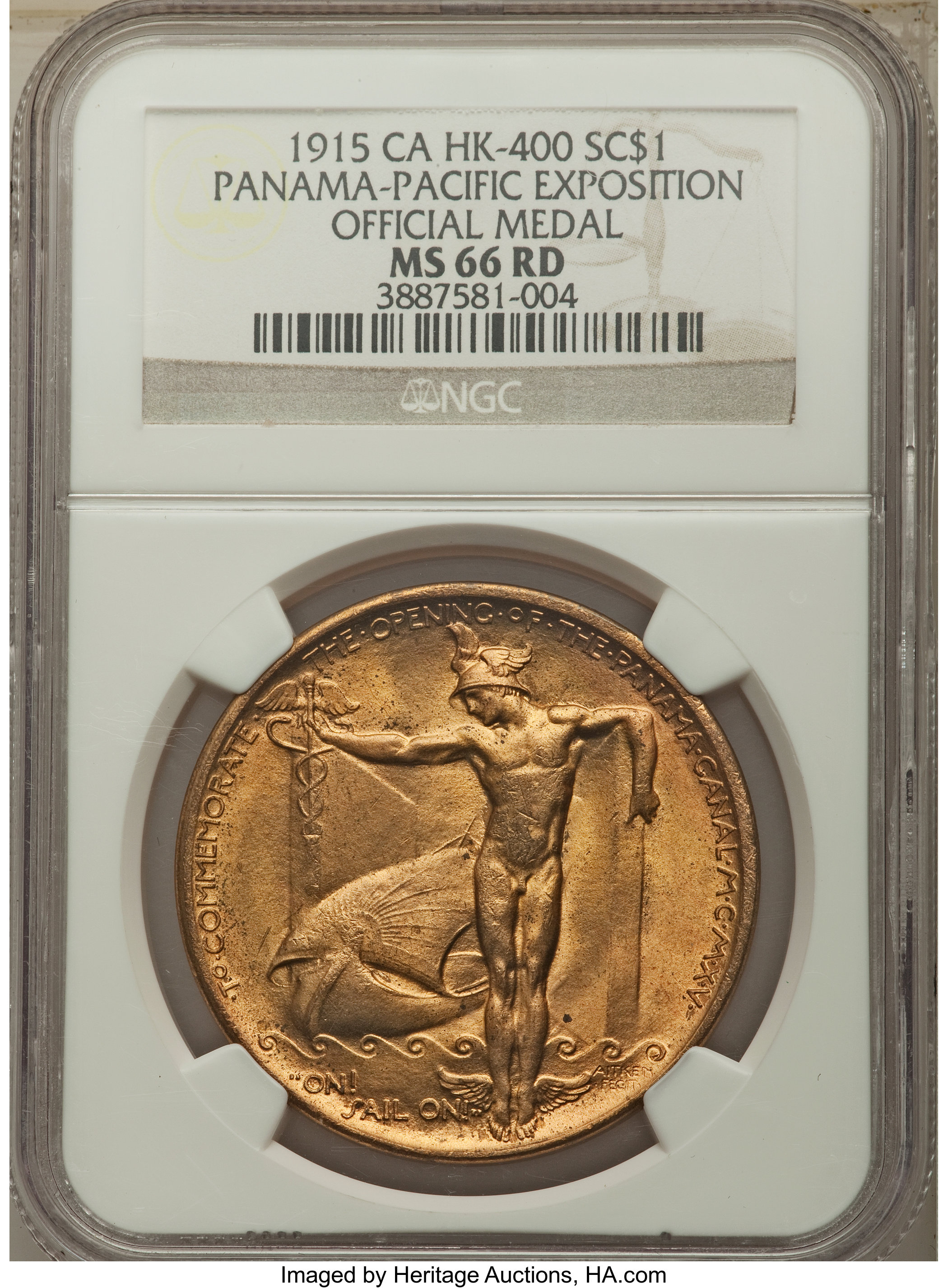 sample image for 1915 Pan-Pac Expo, Official, Bronze SC$1 MS RD (HK-400)