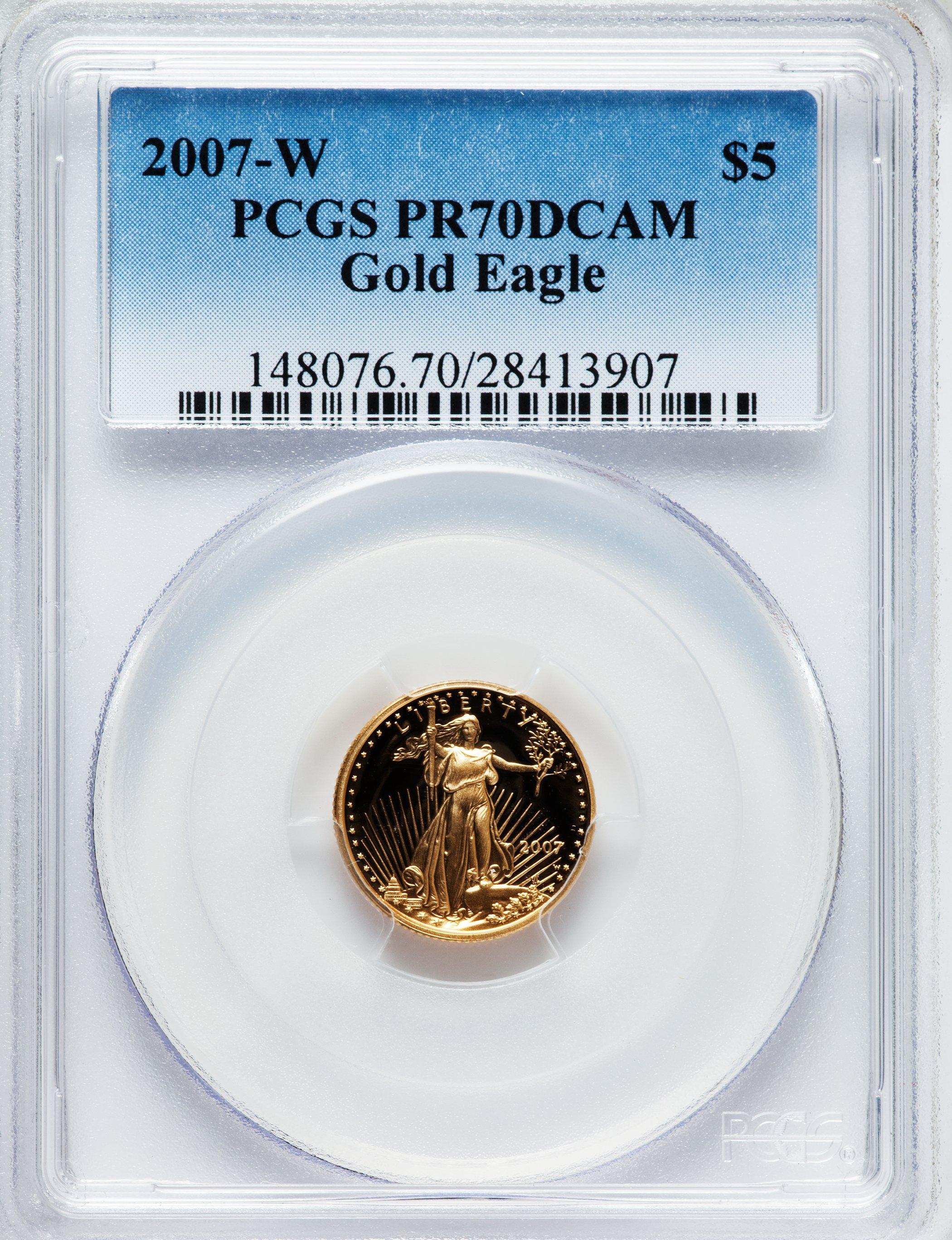 sample image for 2007-W Gold Eagle $5  PR DCAM