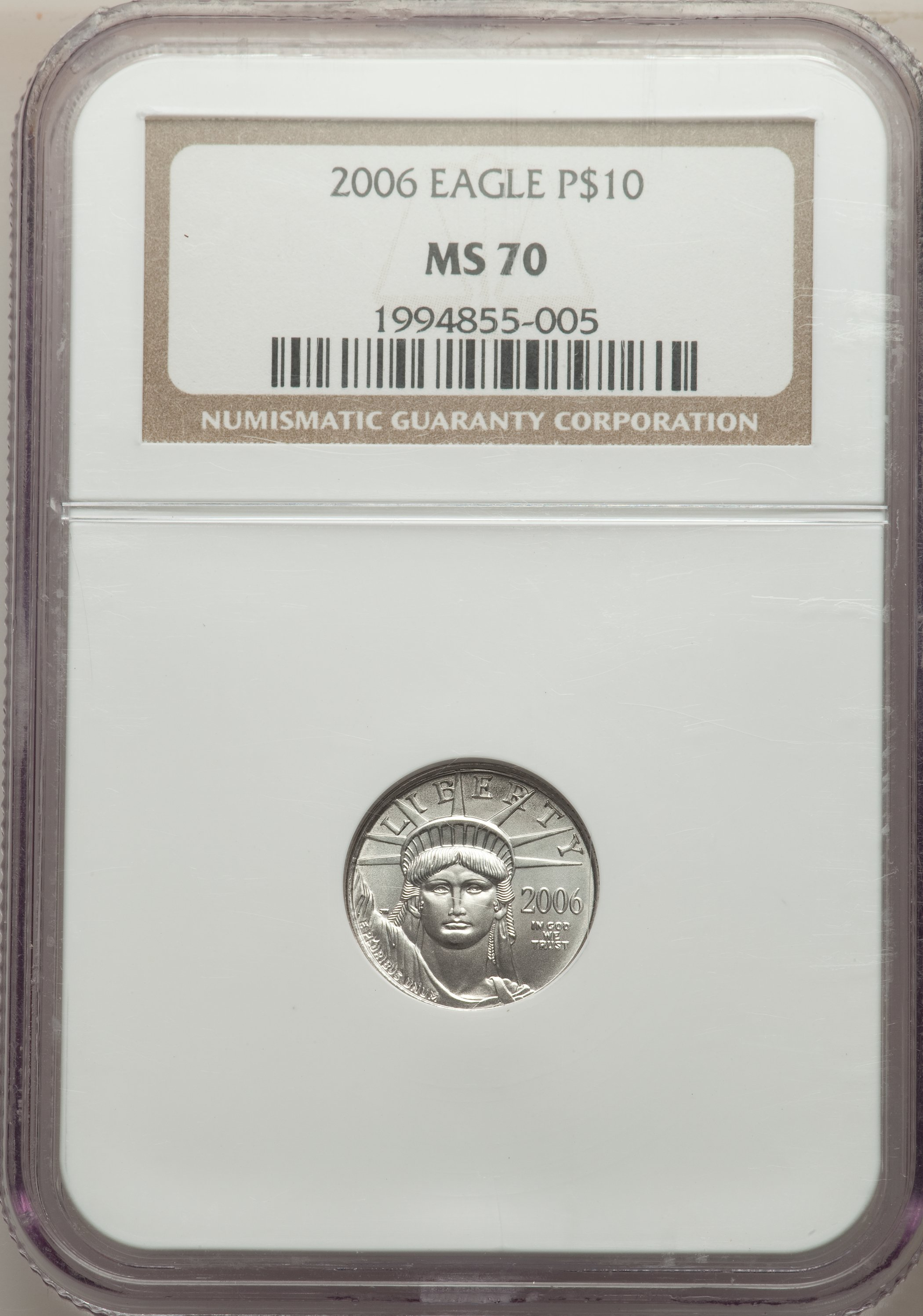 sample image for 2006 Platinum Eagle $10  MS