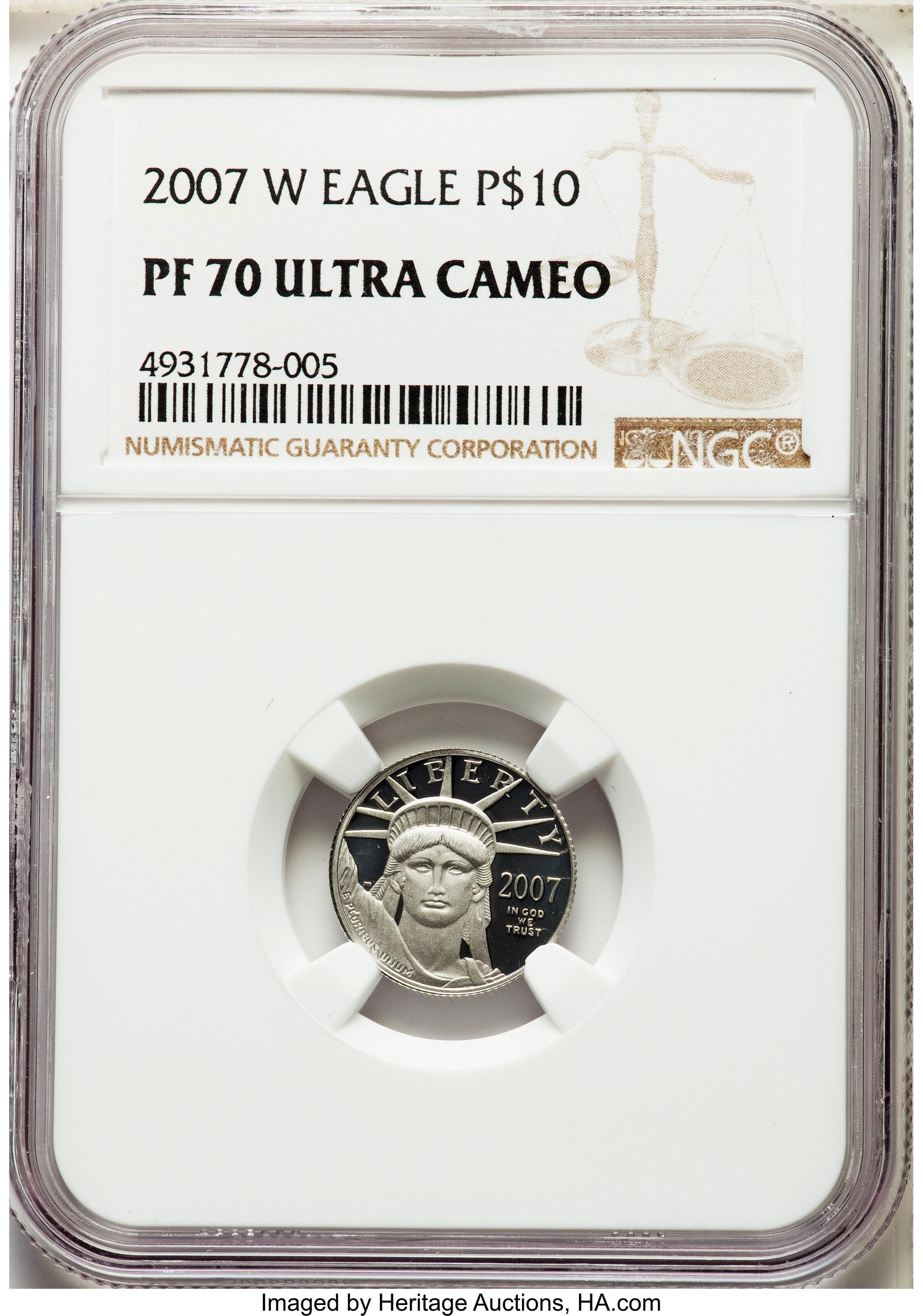sample image for 2007-W Platinum Eagle $10  PR DCAM