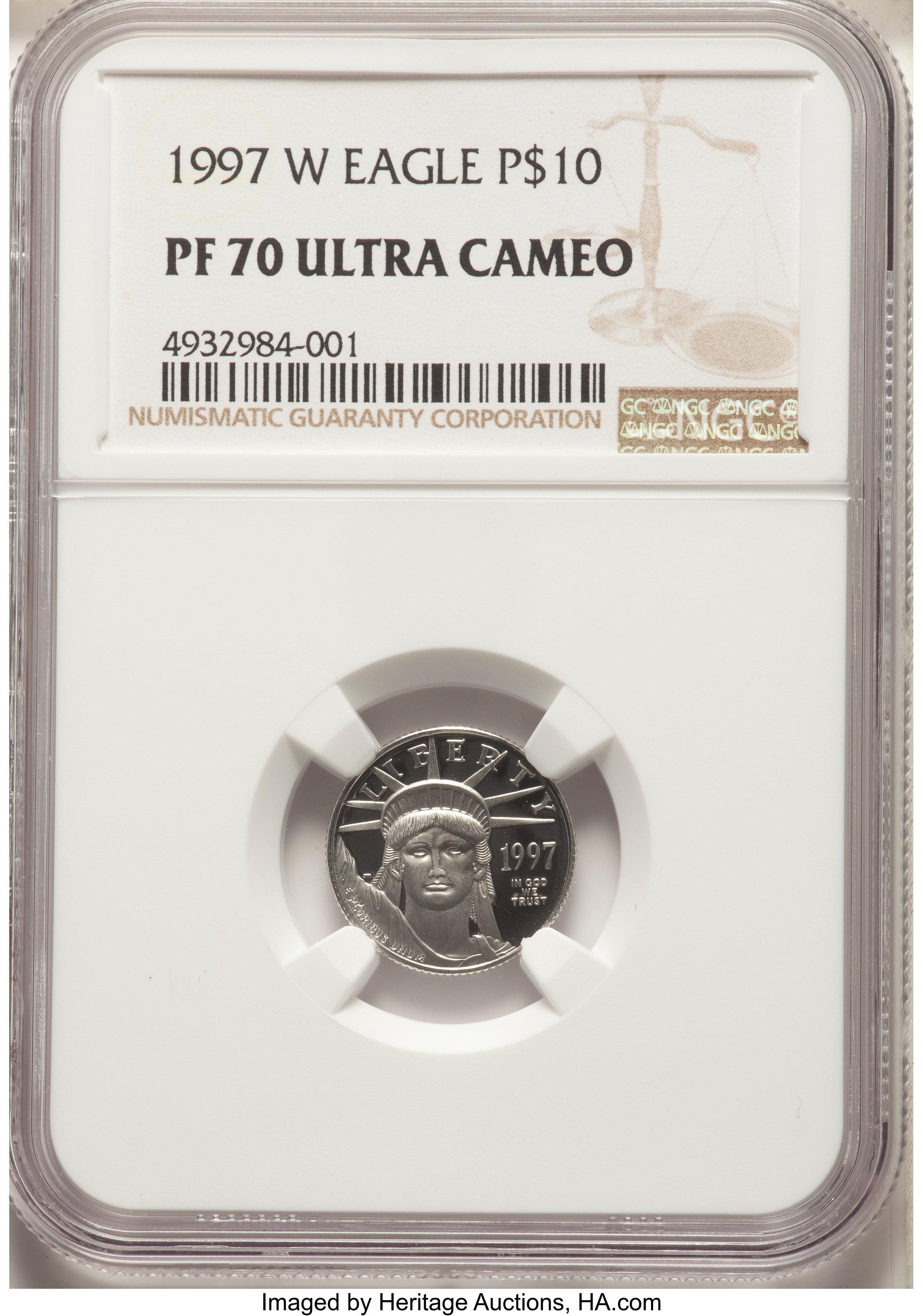 sample image for 1997-W Platinum Eagle $10  PR DCAM