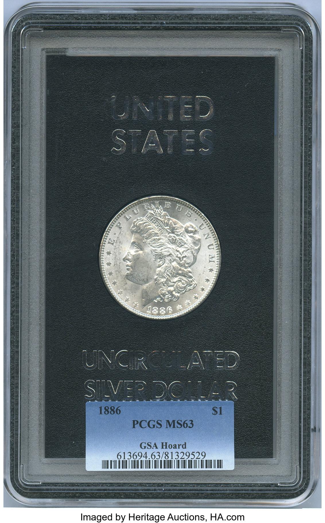 sample image for 1886 $1  MS GSA Hoard